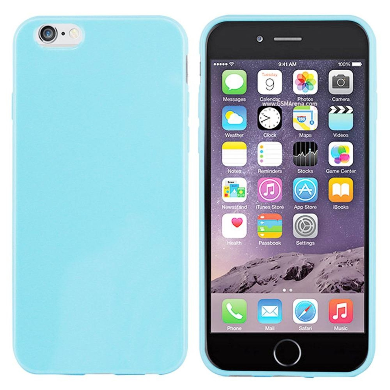 Colorfone Hoesje CoolSkin voor Apple iPhone 6 Plus/6S Plus Piano-L. Blauw