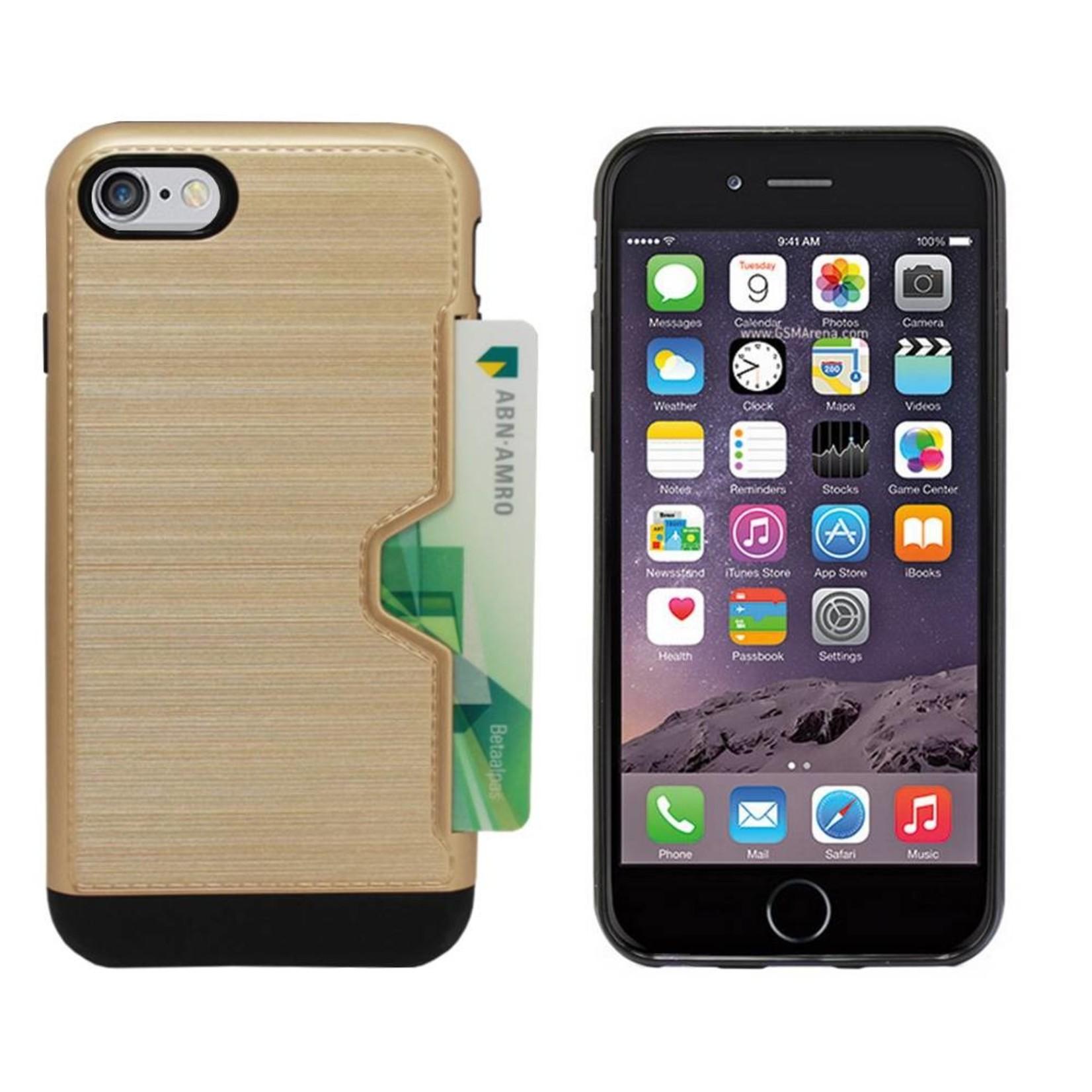 Colorfone Hoesje CardSkin Apple iPhone 8 Plus/7 Plus Goud