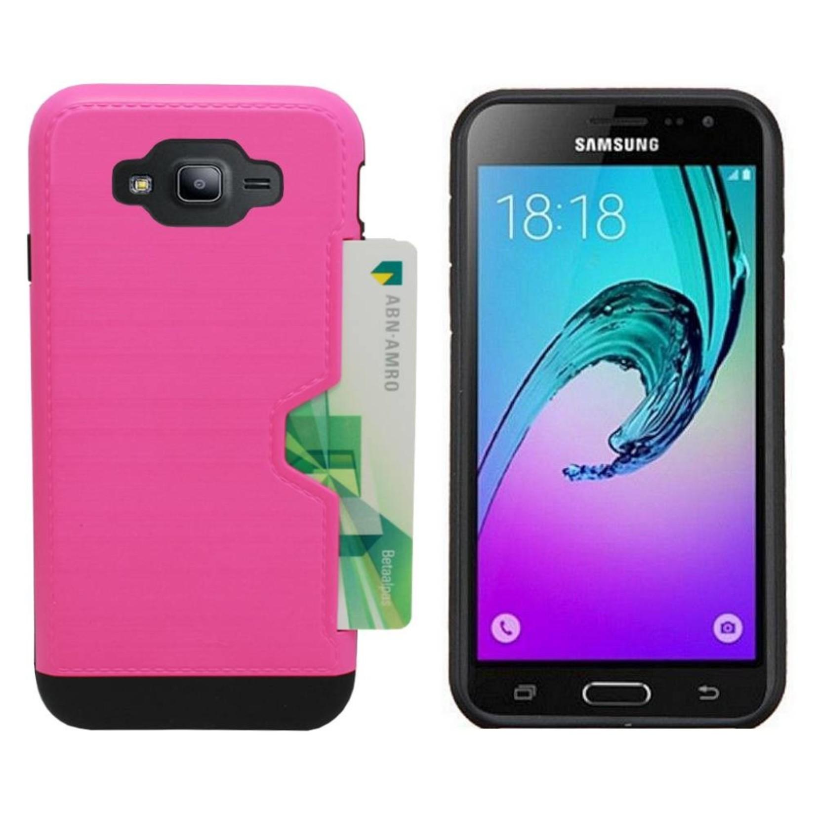 Colorfone Hoesje CardSkin Samsung J3 2016 Roze