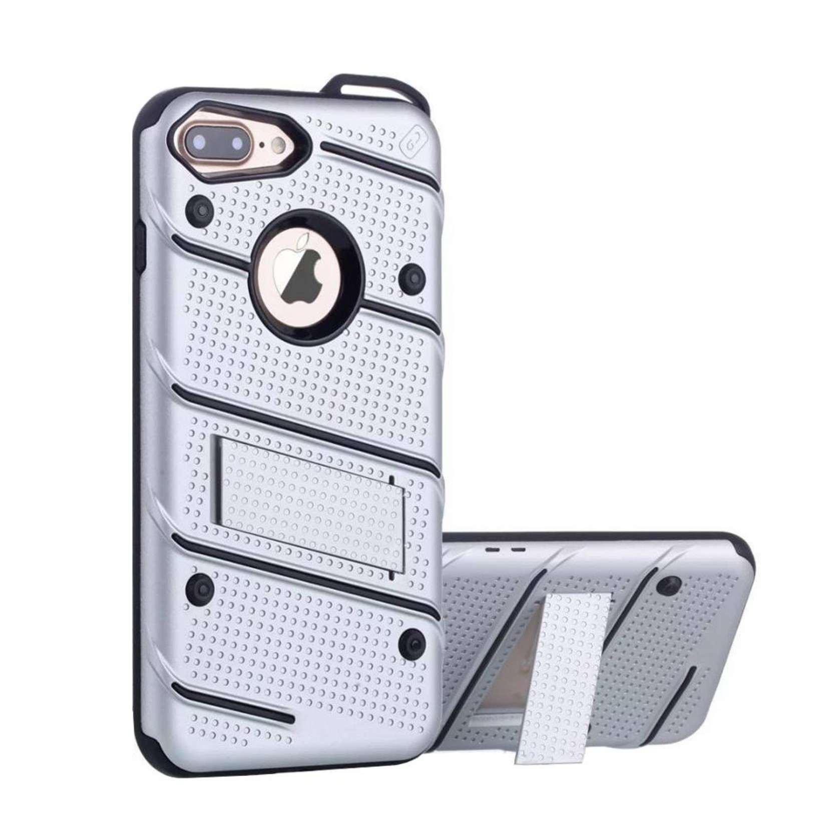 Colorfone Hoesje Armour Stand iPhone 7 Plus Zilver