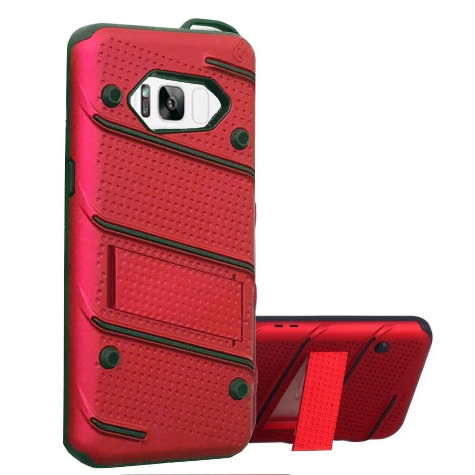 Colorfone Hoesje Armour Stand Samsung S8 Plus/Duos Rood