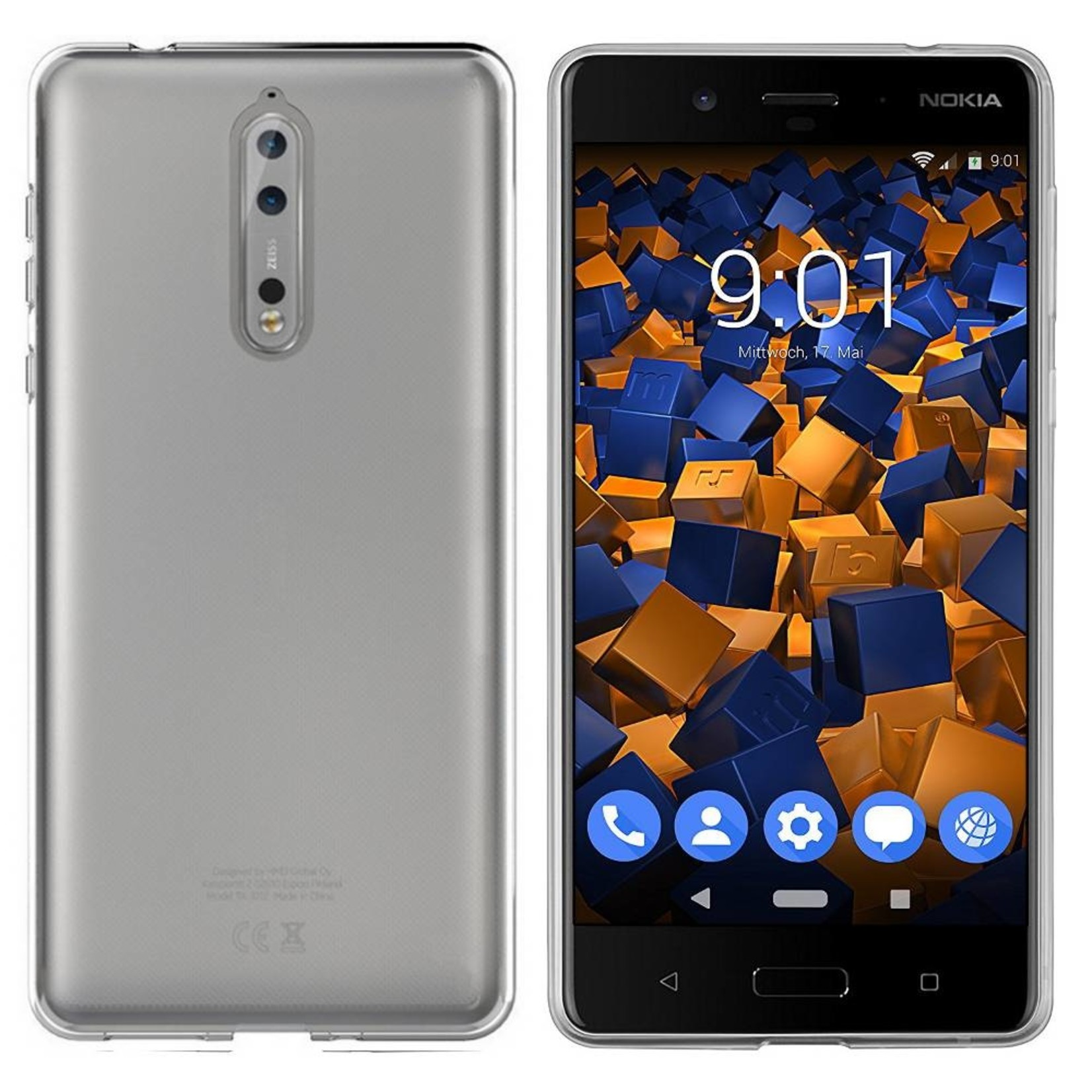 Colorfone Hoesje CoolSkin3T voor Nokia 8 Transparant Wit