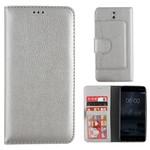 Colorfone Wallet Case Nokia 8 Zilver