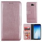 Colorfone Wallet Case A8+ 2018 Roze