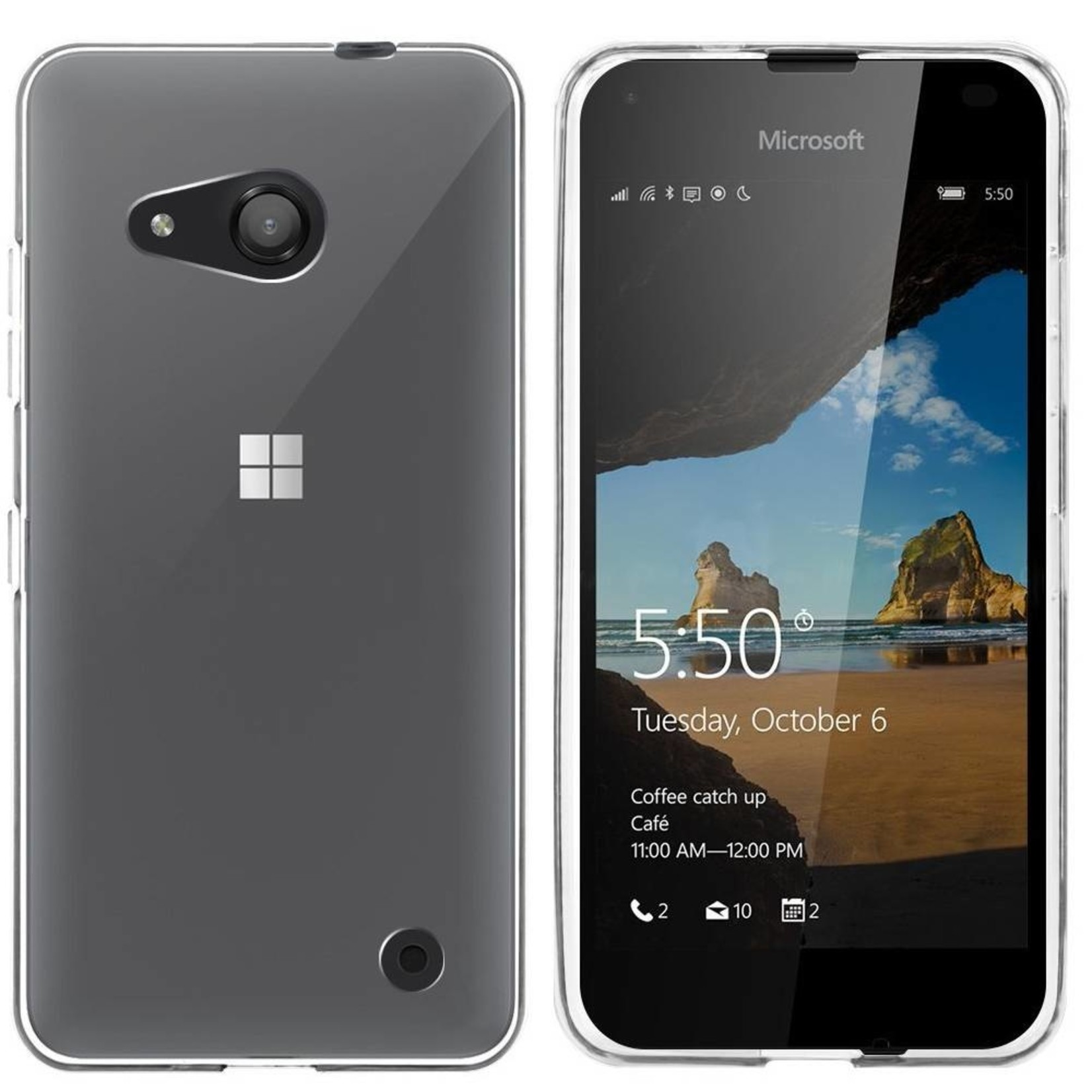 Colorfone Hoesje CoolSkin3 voor Microsoft Lumia 550 Tr. Wit