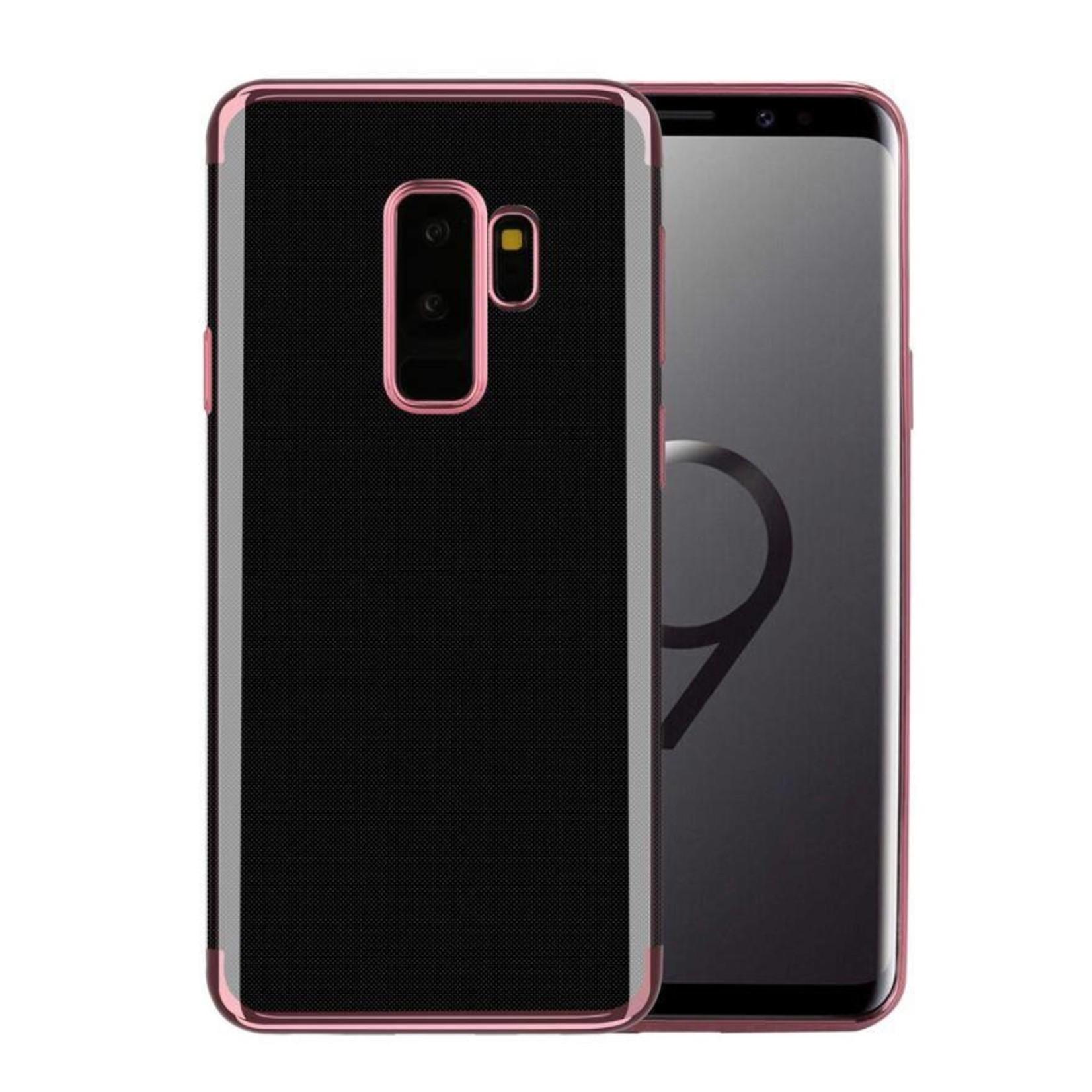 Colorfone Hoesje CoolSkin Bumper Clear voor Samsung S9 Rosé Goud