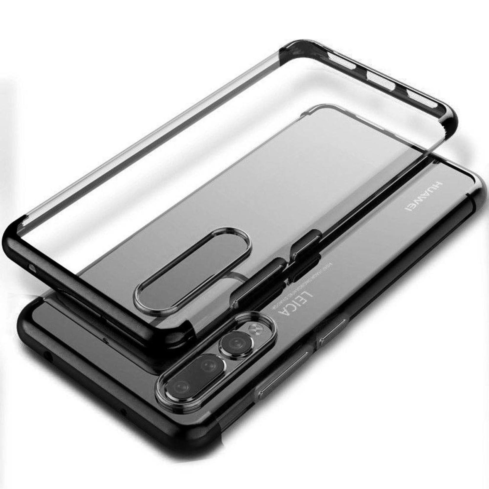 Colorfone Hoesje CoolSkin Bumper Clear voor Huawei P20 Zwart