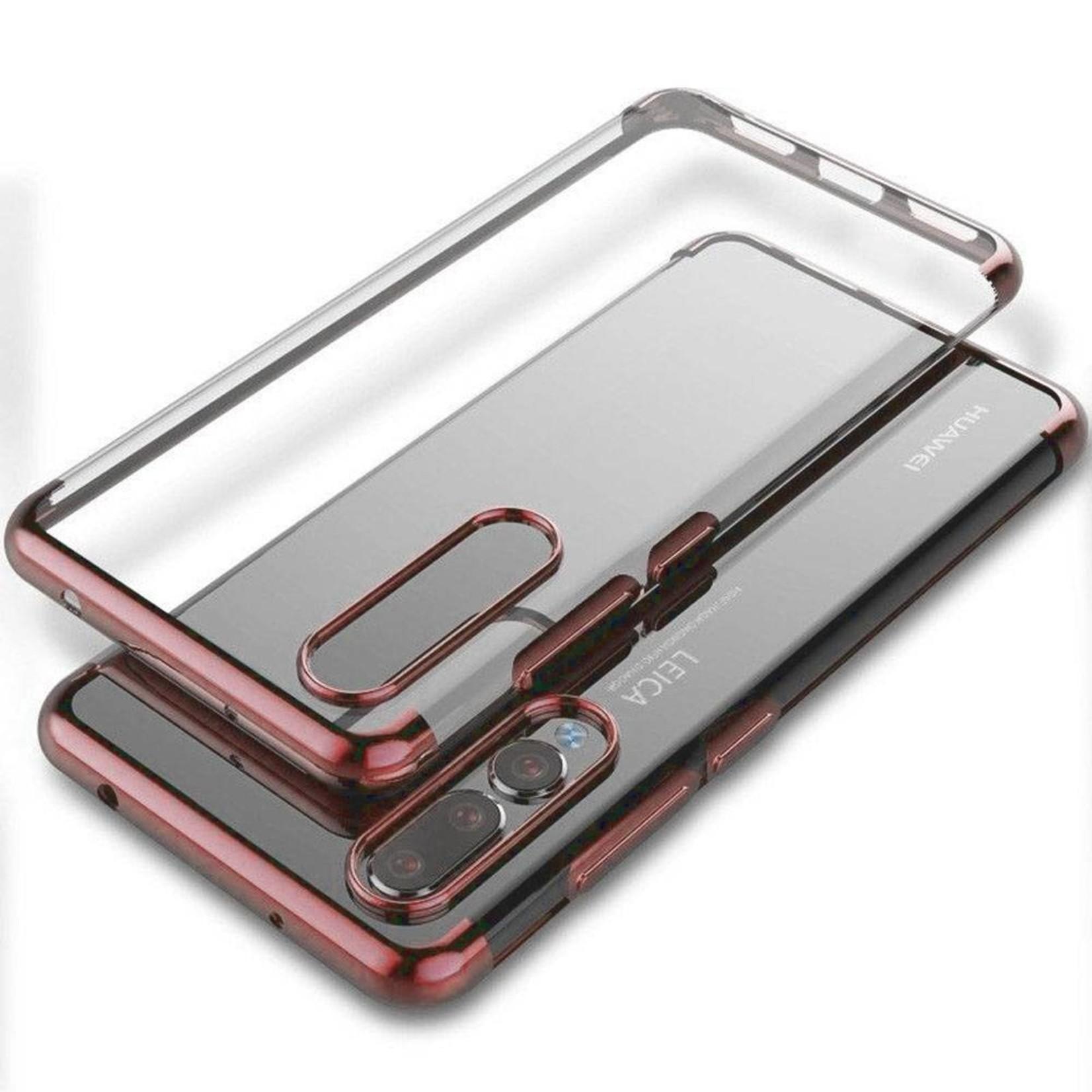Colorfone Hoesje CoolSkin Bumper Clear voor Huawei P20 Pro Rosé Goud