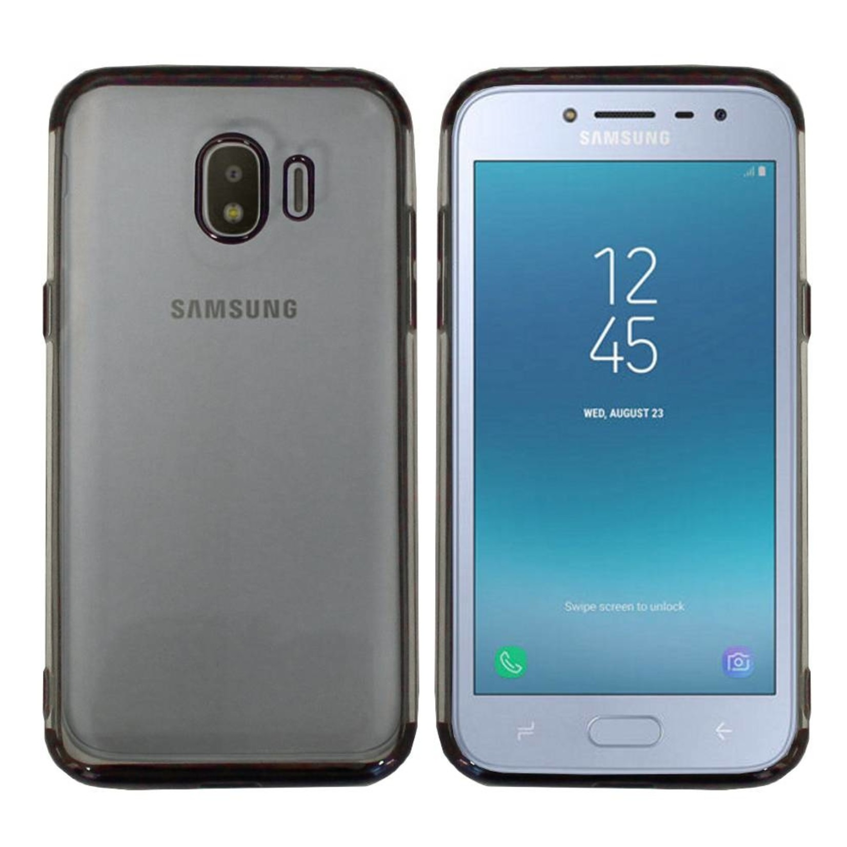 Colorfone Hoesje CoolSkin Bumper Clear Samsung J2 Pro 2018 Zwart