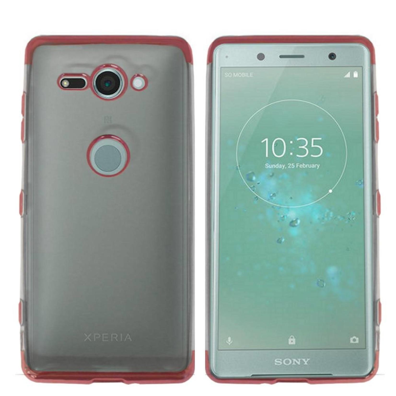 Colorfone Hoesje CoolSkin Bumper Clear Sony XZ 2 Rosé Goud