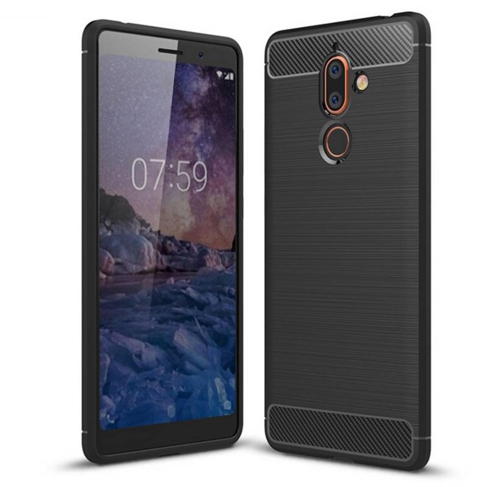 Colorfone Hoesje Armour 1 Nokia 7 Plus Zwart