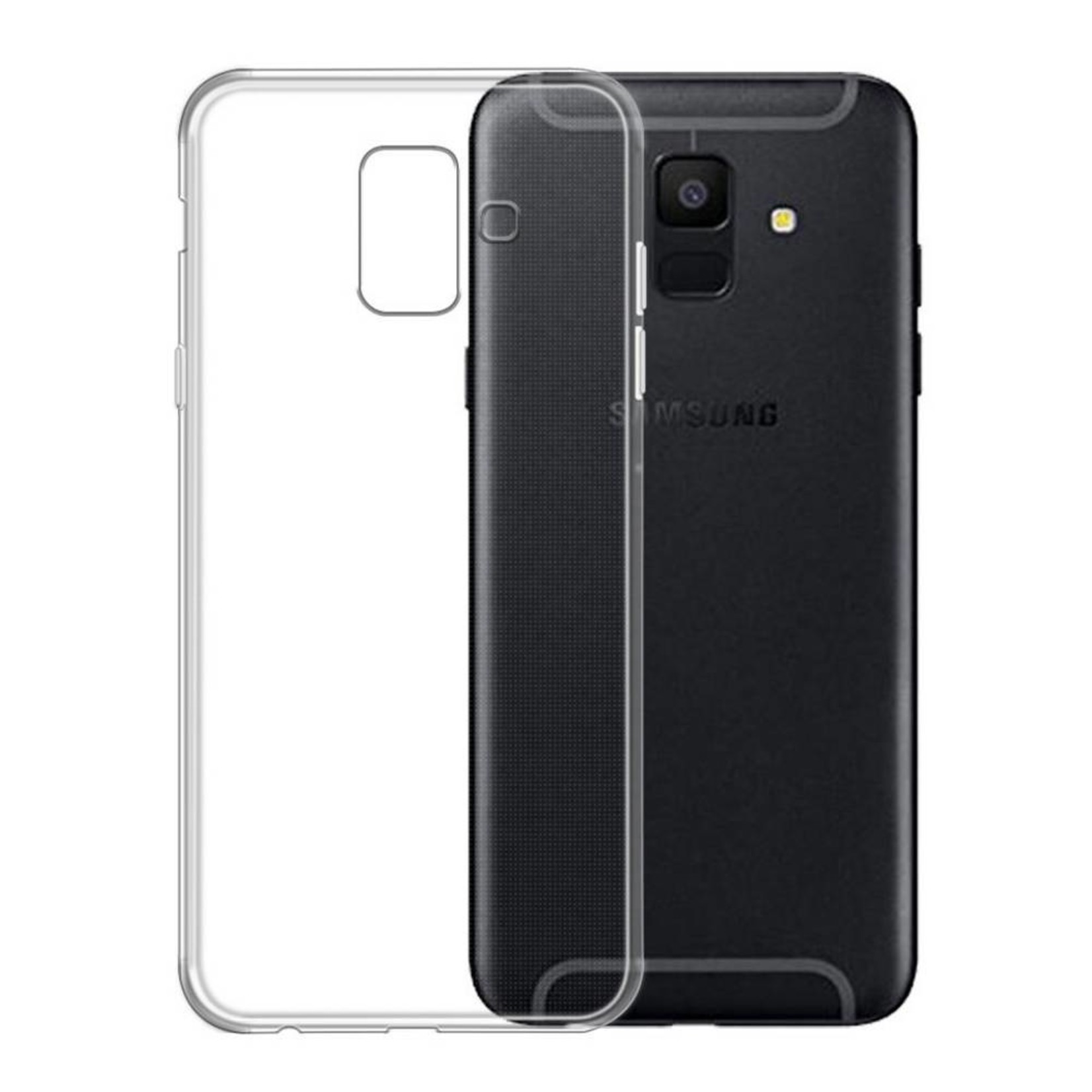 Colorfone Hoesje Coolskin3T voor Samsung A6 Transparant Wit
