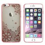 Colorfone Bumper Clear iPhone 5/5S/SE Flower Rosé Goud