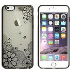 Colorfone Bumper Clear iPhone 6 Plus/6S Plus Flower Zwart