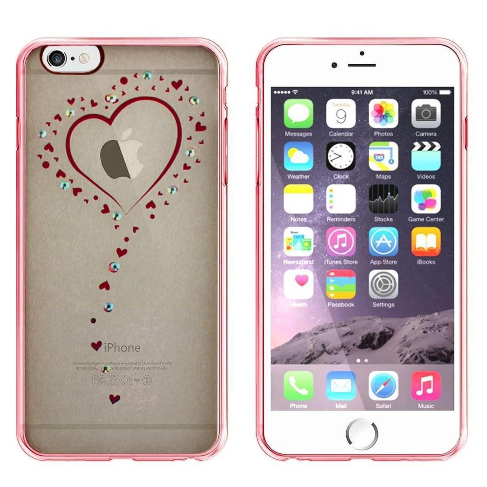 Colorfone Hoesje CoolSkin Bumper Clear Apple iPhone 8 Plus/7 Plus Hart Rosé Goud