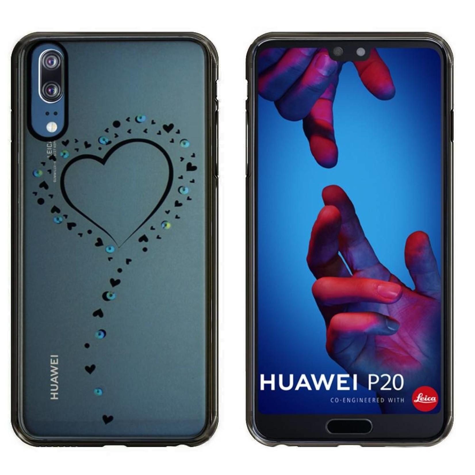Colorfone Hoesje CoolSkin Bumper Clear Huawei P20 Hart Zwart