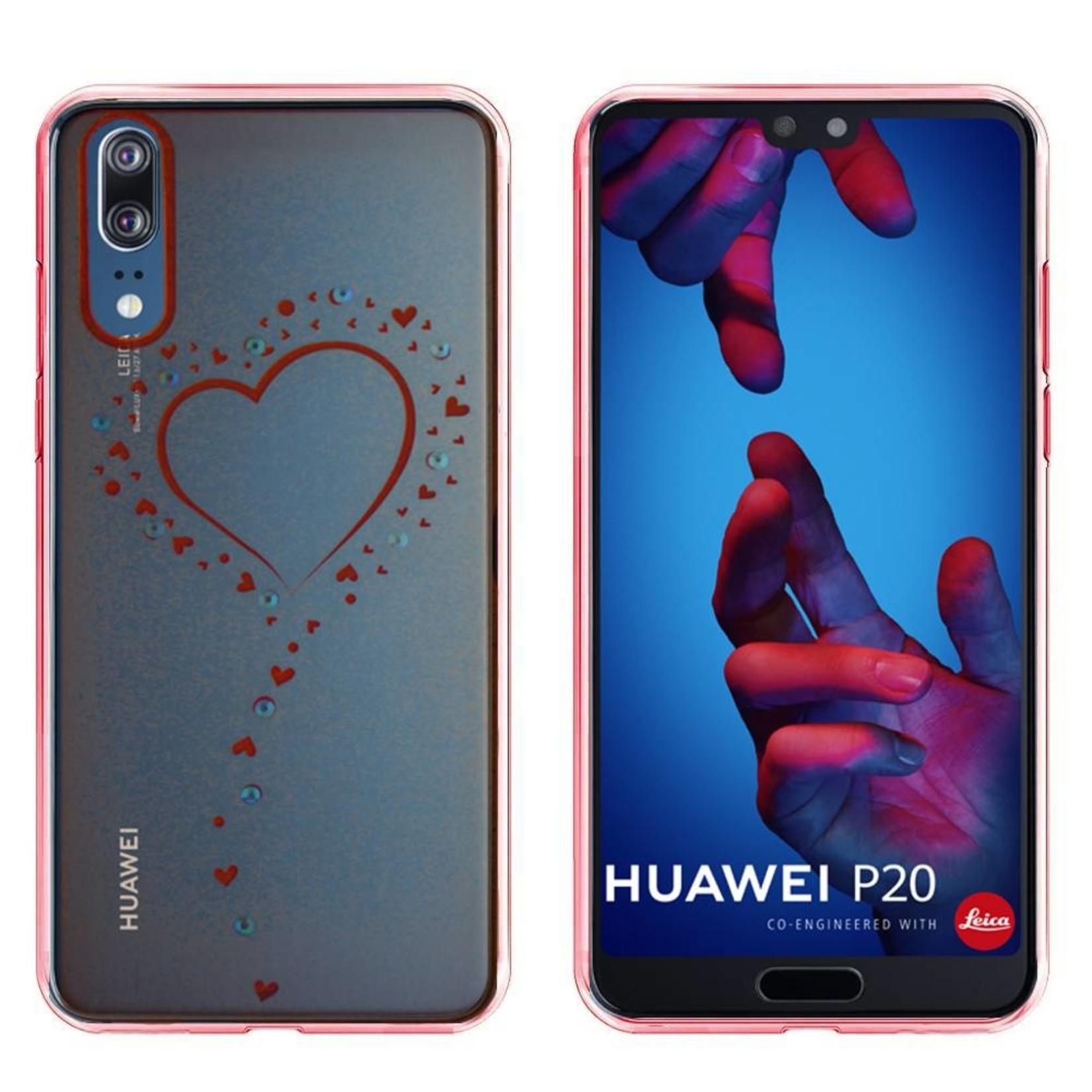 Colorfone Hoesje CoolSkin Bumper Clear Huawei P20 Pro Hart Rosé Goud