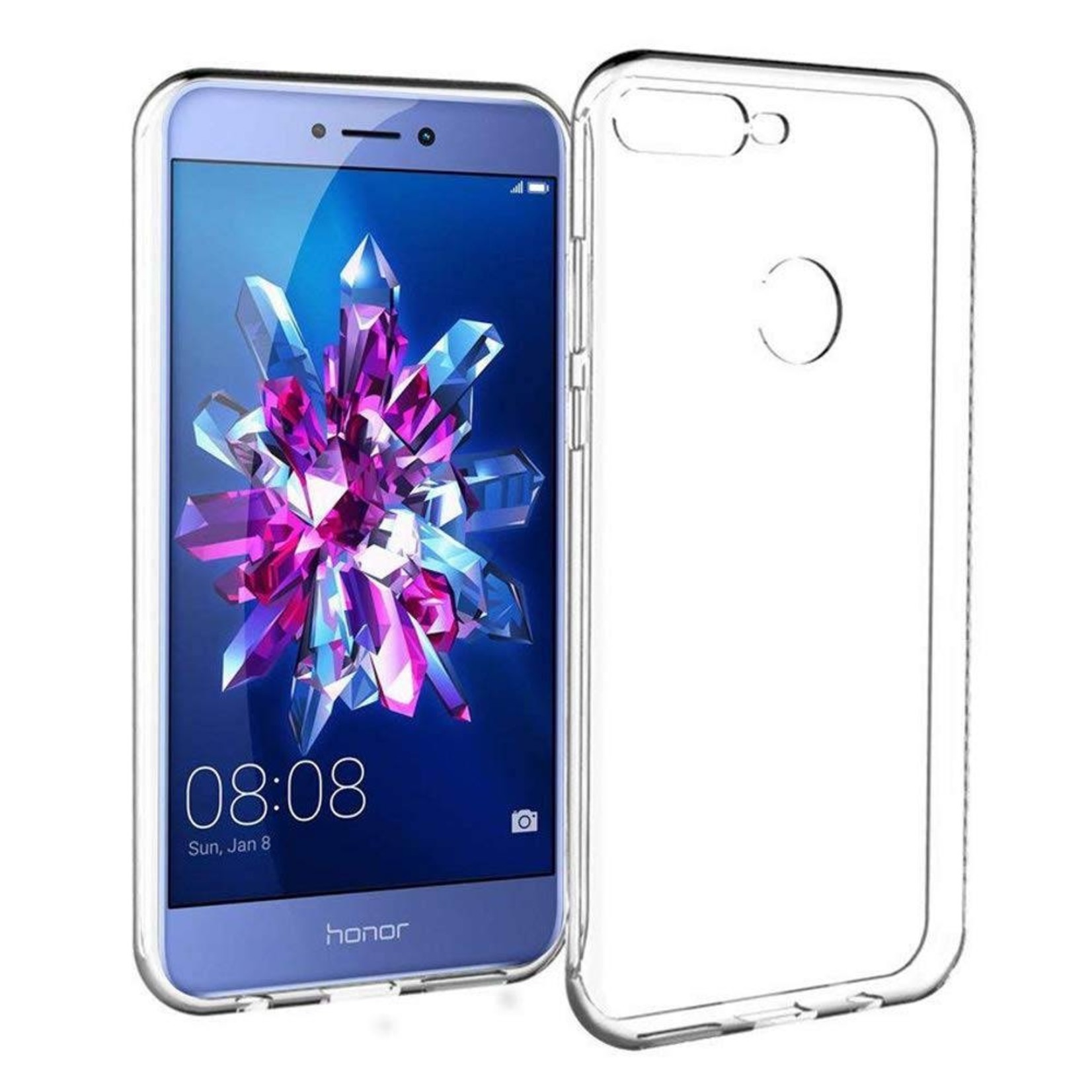 Colorfone Hoesje CoolSkin3T voor Huawei Honor 7C Tr. Wit