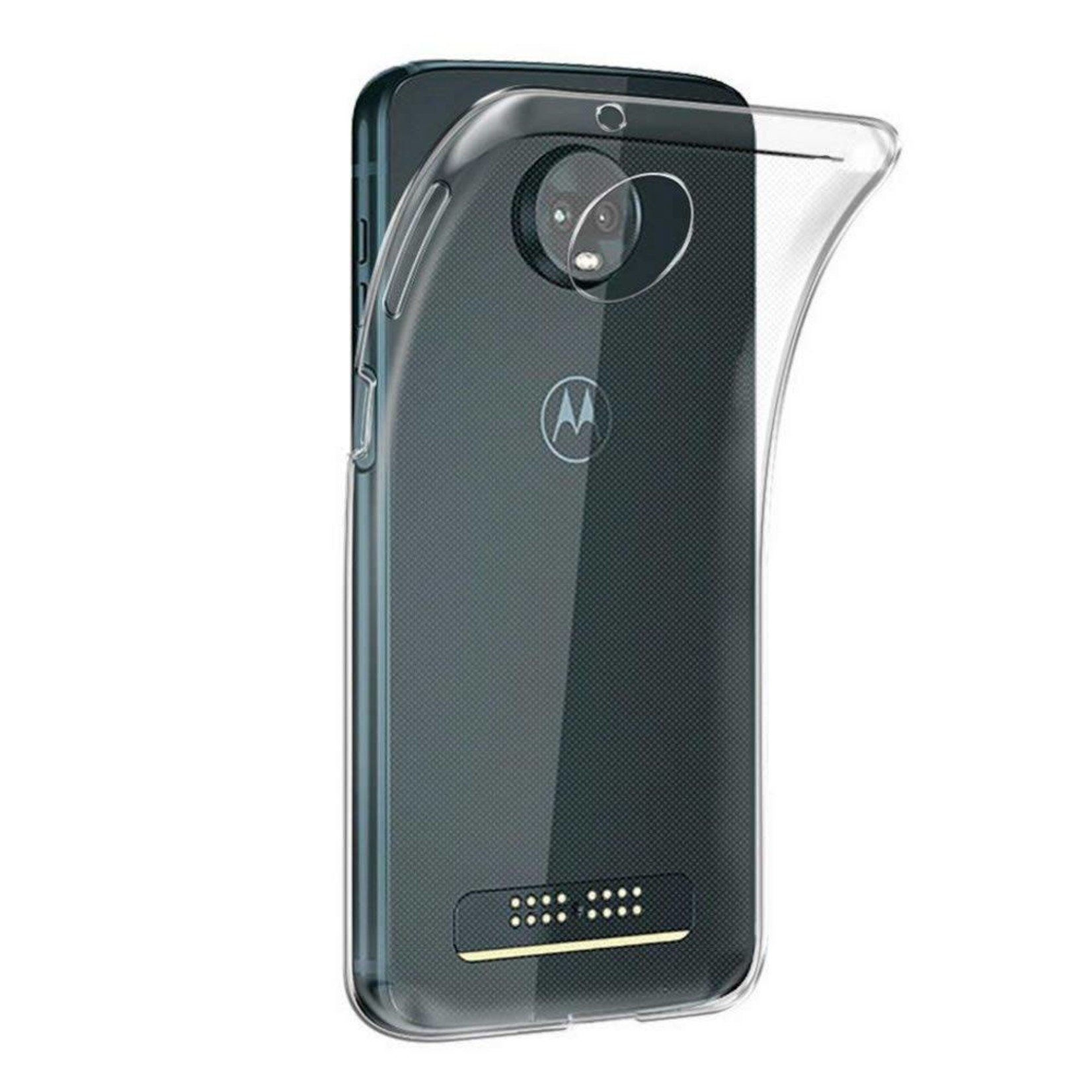 Colorfone Hoesje CoolSkin3T voor Moto Z3 Play Transparant Wit