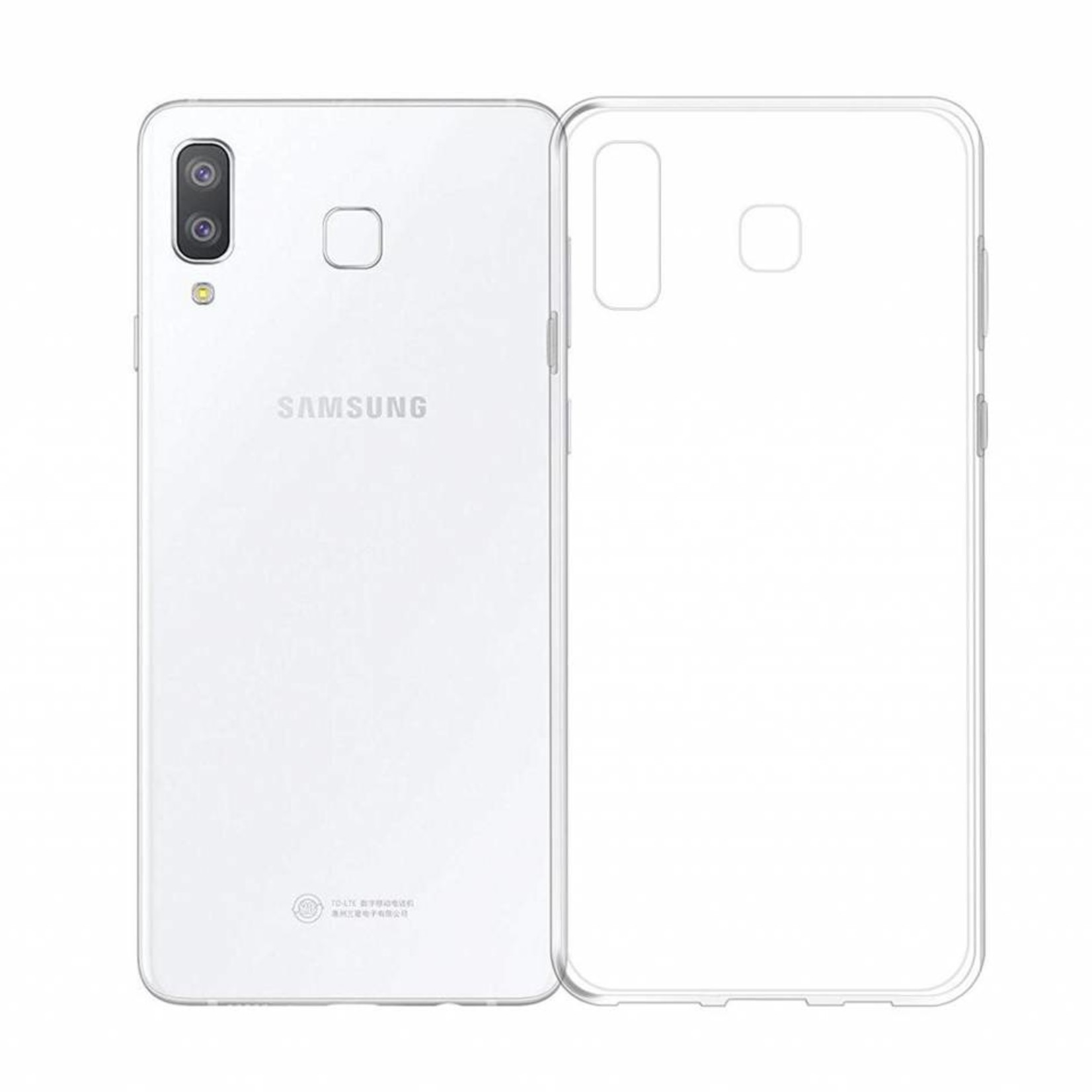 Colorfone Hoesje Coolskin3T voor Samsung A8 Star Transparant Wit