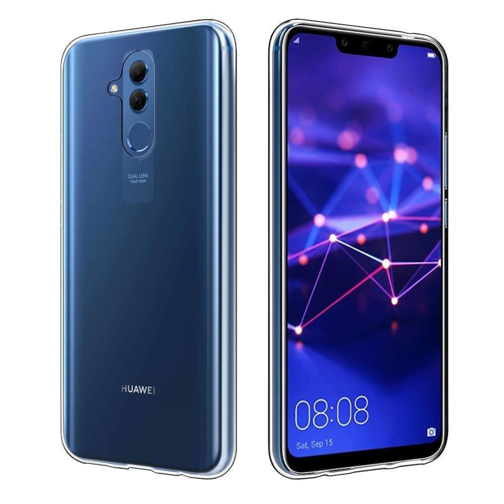 Colorfone Hoesje CoolSkin3T voor Huawei Mate 20 Lite Transparant Wit