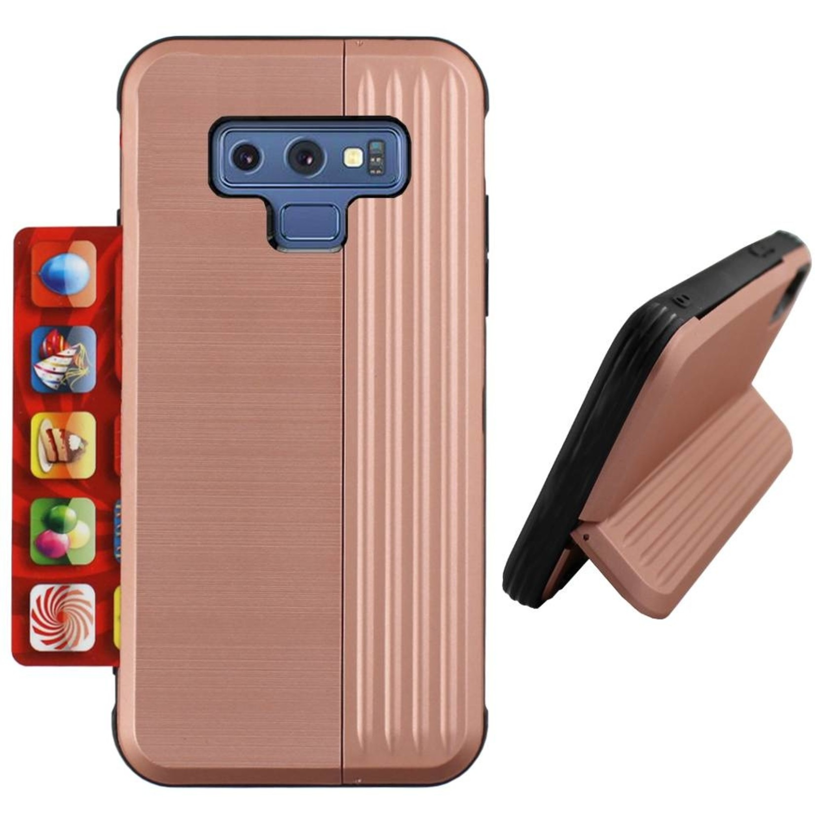 Colorfone Hoesje Card Stand Samsung Note 9 Rose Goud