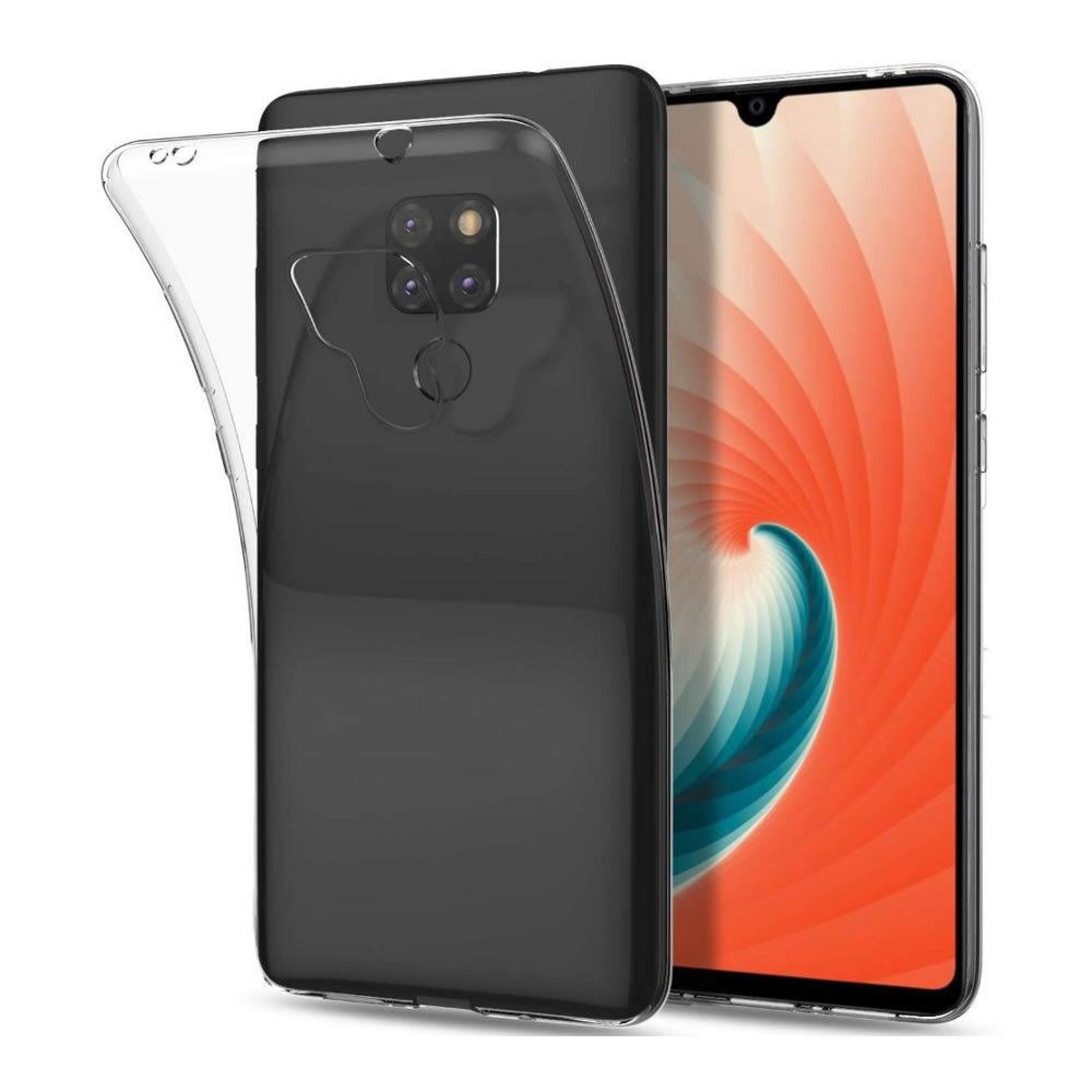 Colorfone Hoesje CoolSkin3T voor Huawei Mate 20 Transparant Wit