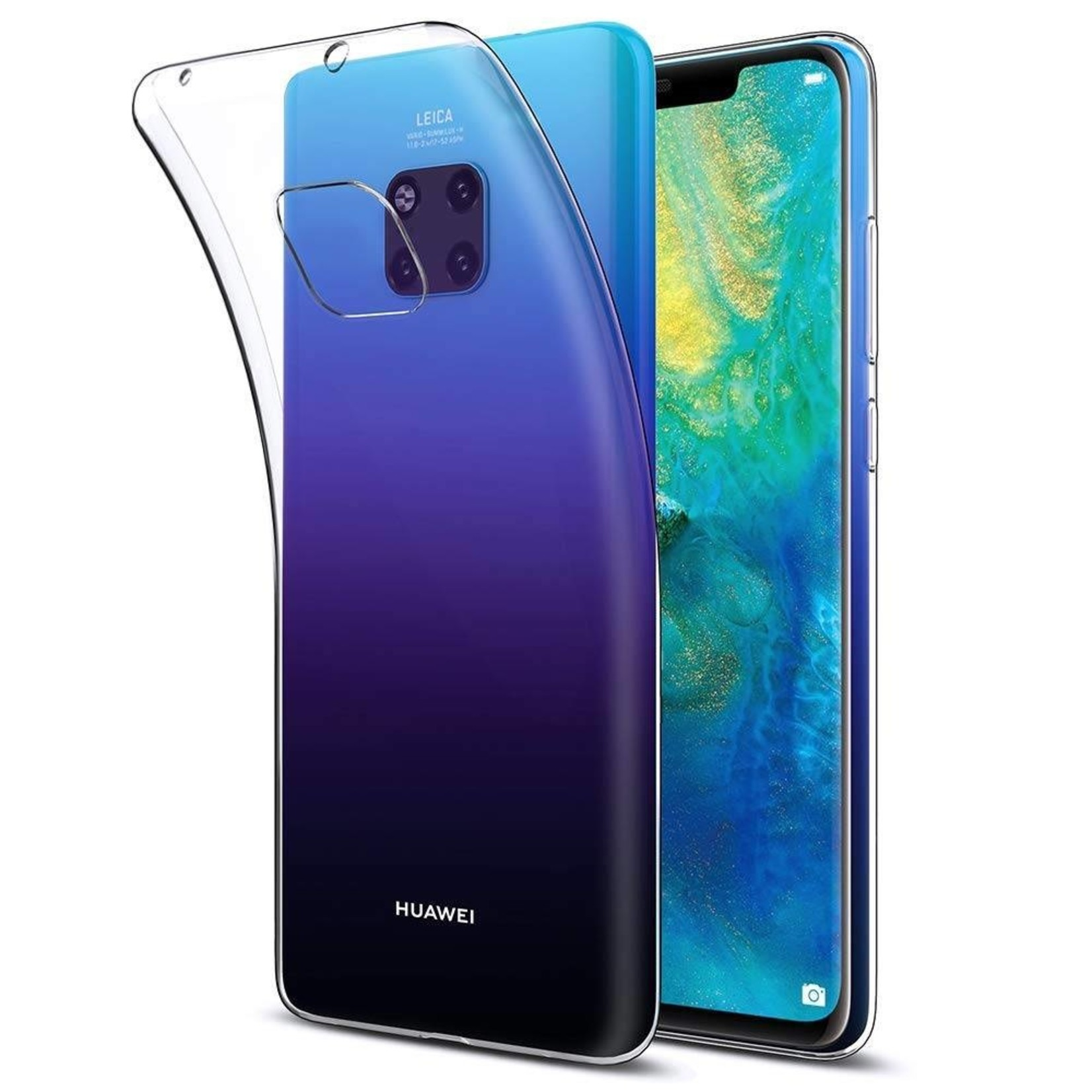 Colorfone Hoesje CoolSkin3T voor Huawei Mate 20 Pro Transparant Wit
