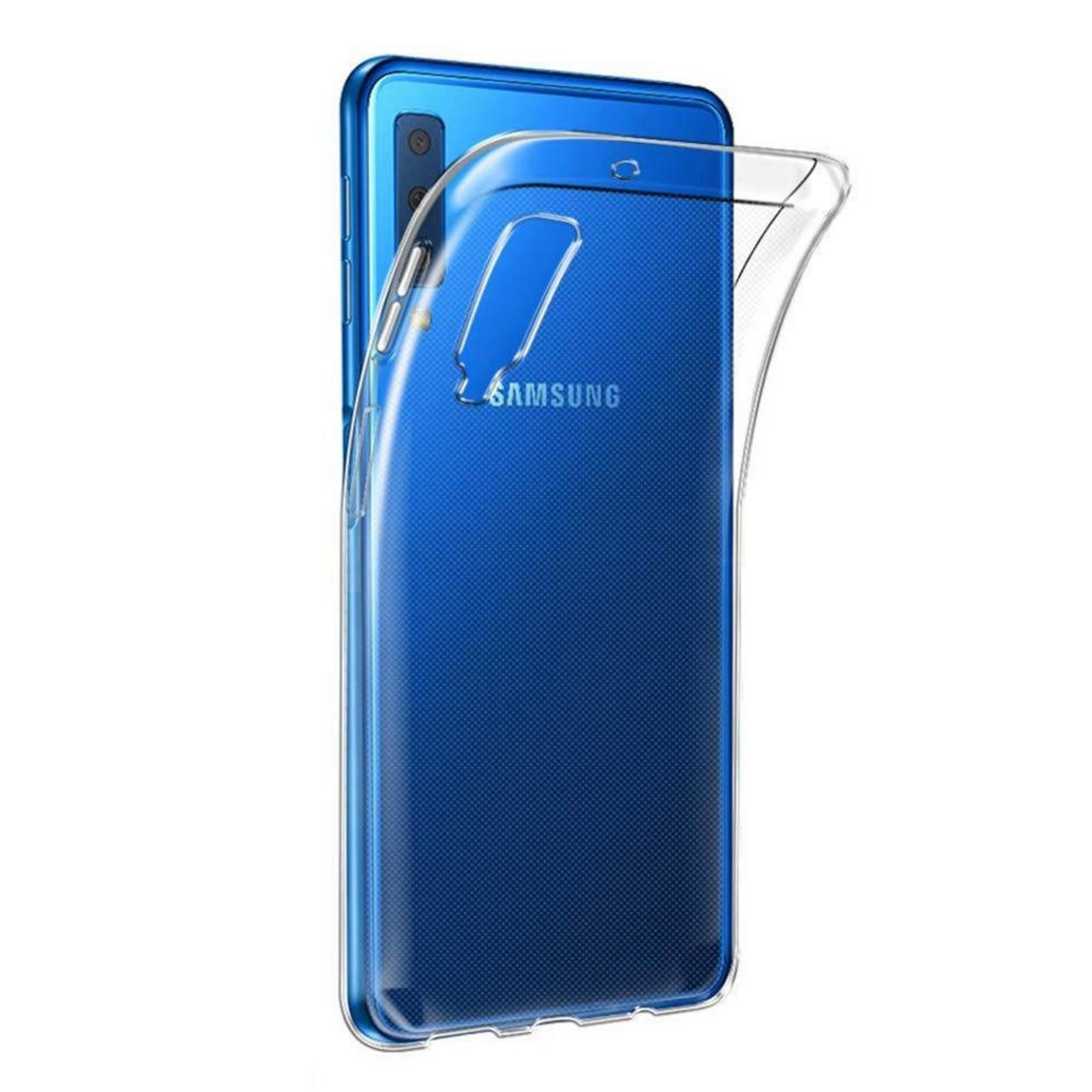 Colorfone Hoesje Coolskin3T voor Samsung A7 2018 Transparant Wit
