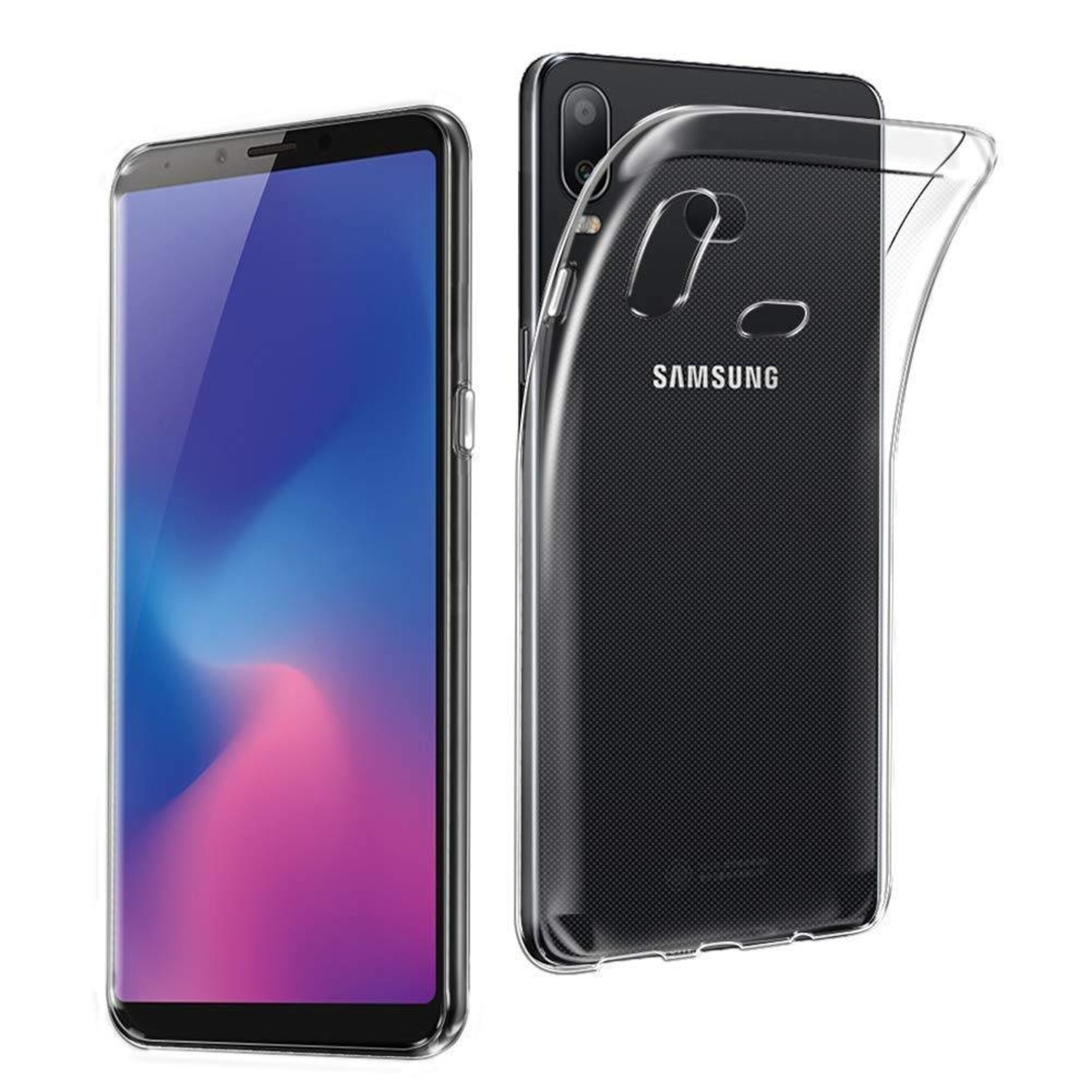 Colorfone Hoesje Coolskin3T voor Samsung A6s Transparant Wit