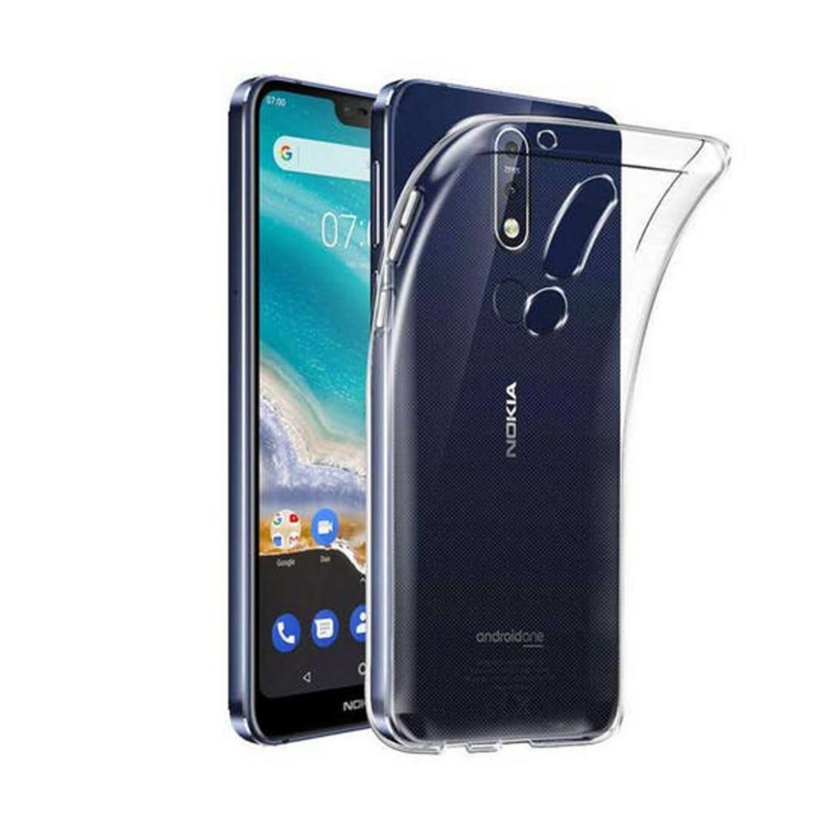 Colorfone Hoesje CoolSkin3T voor Nokia 7.1 Tr. Wit
