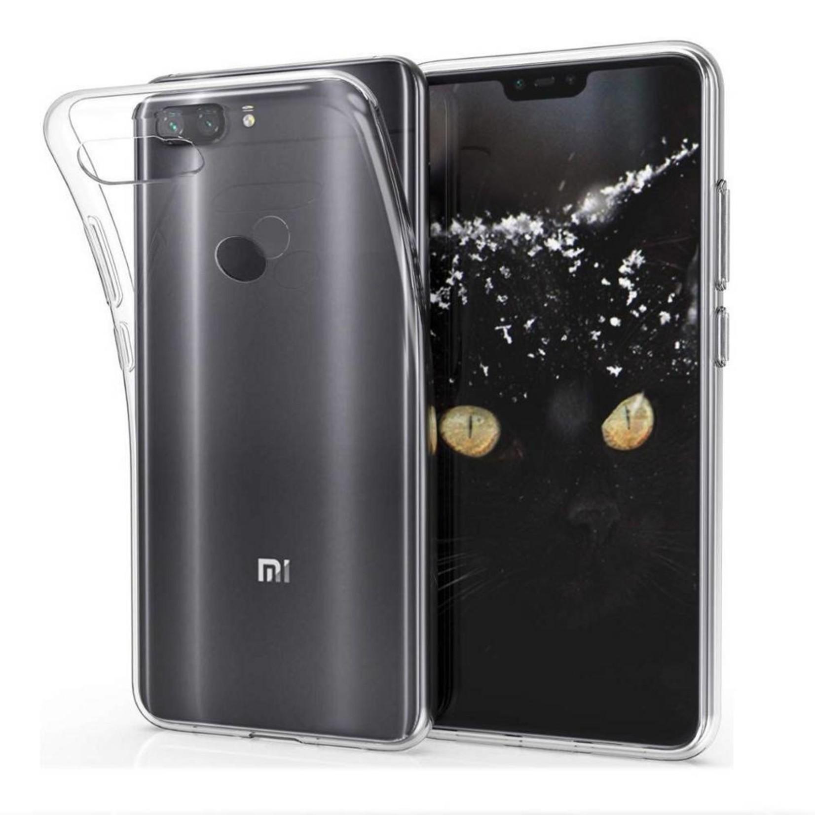 Colorfone Hoesje CoolSkin3T voor Xiaomi MI 8 Lite Transparant Wit