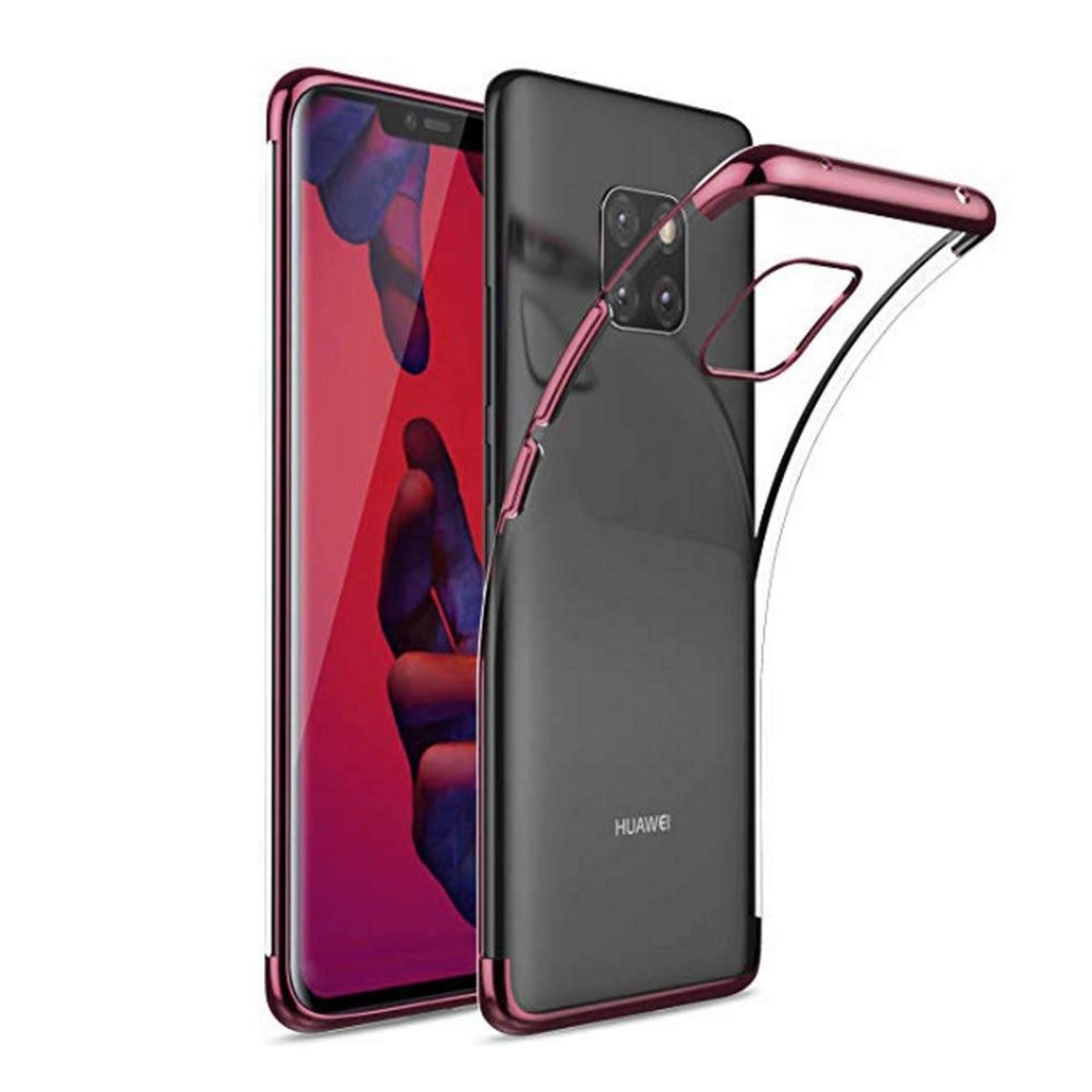 Colorfone Hoesje CoolSkin Bumper Clear voor Huawei Mate 20 Pro Rosé Goud