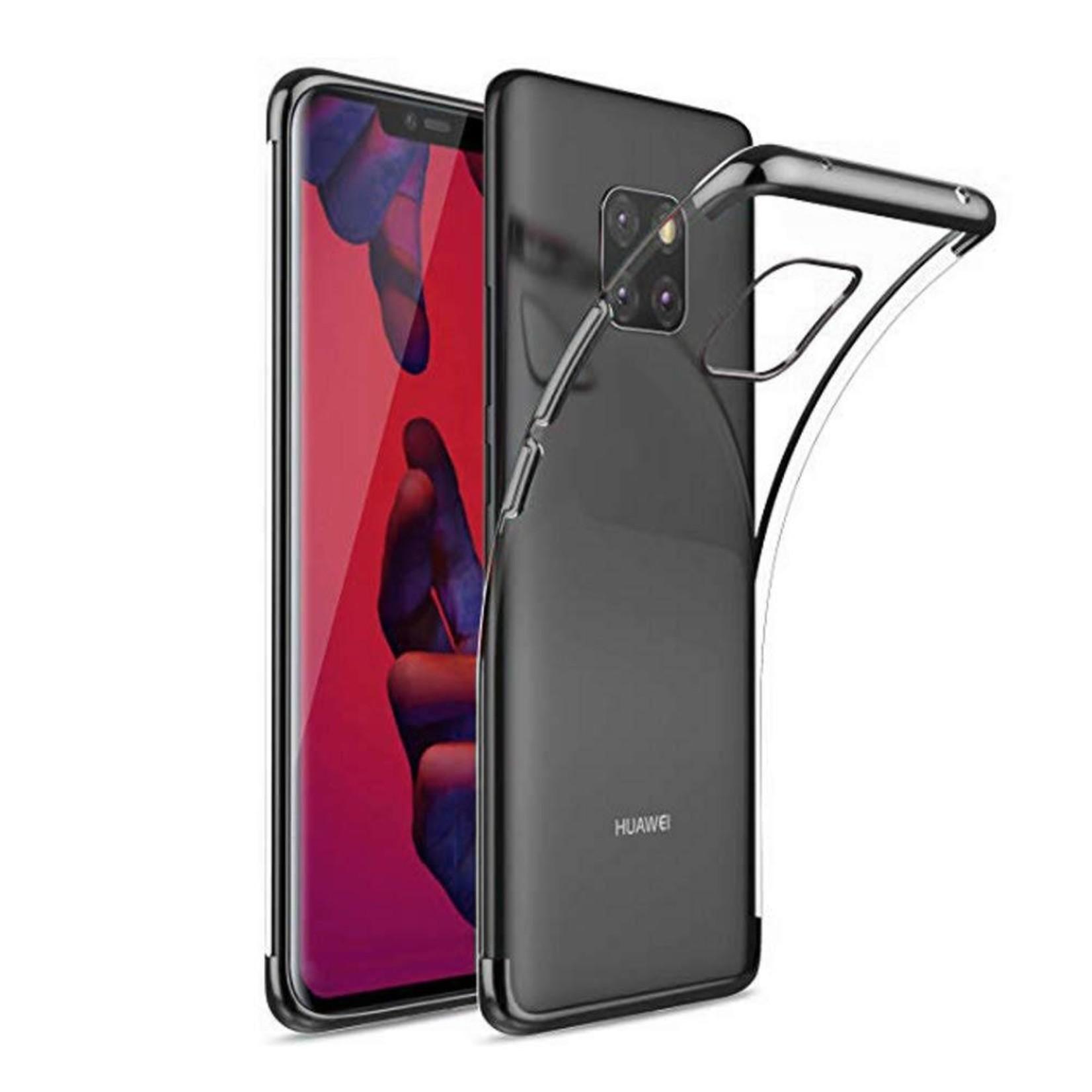 Colorfone Hoesje CoolSkin Bumper Clear voor Huawei Mate 20 Pro Zwart