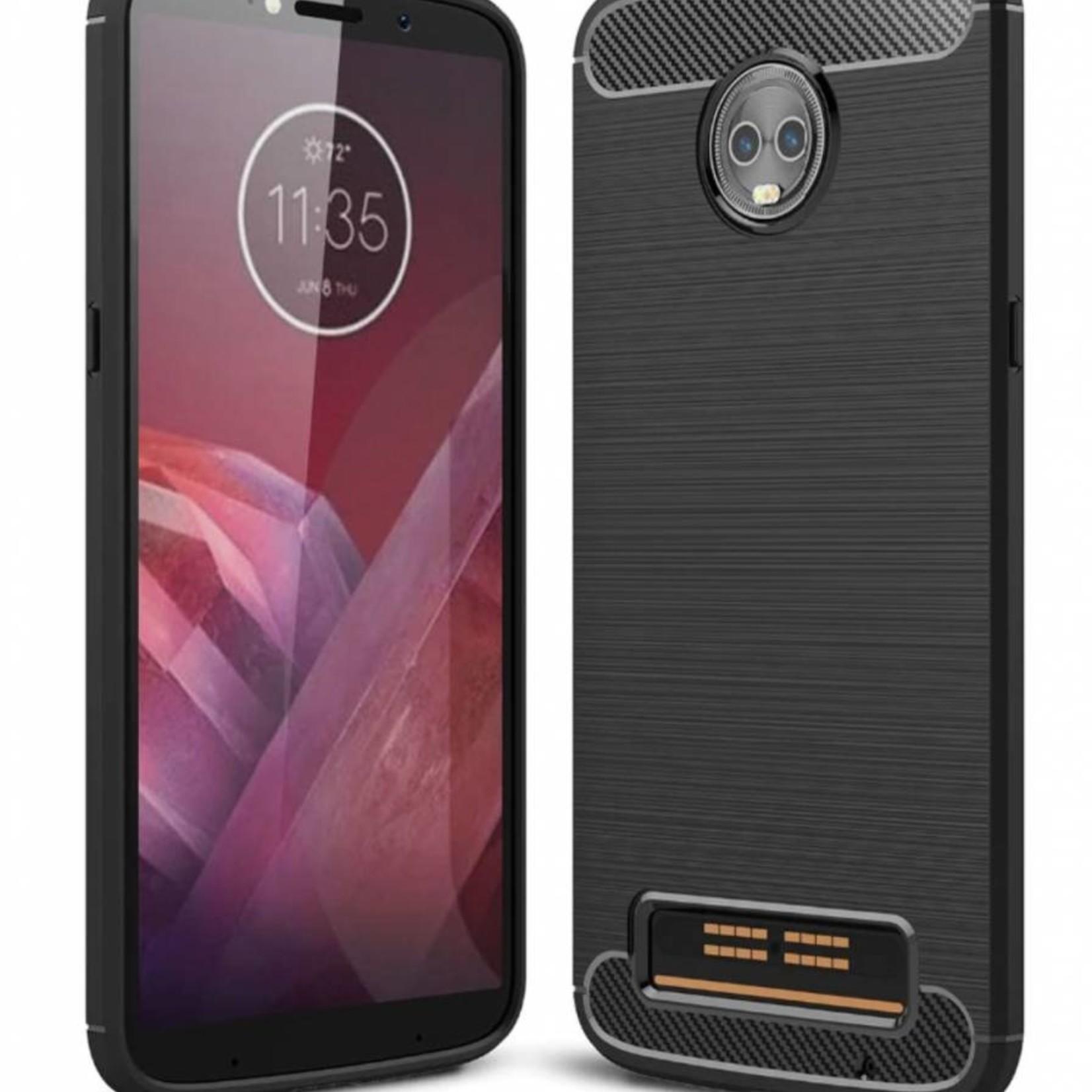 Colorfone Hoesje Armour 1 Motorola Moto Z3 Play Zwart