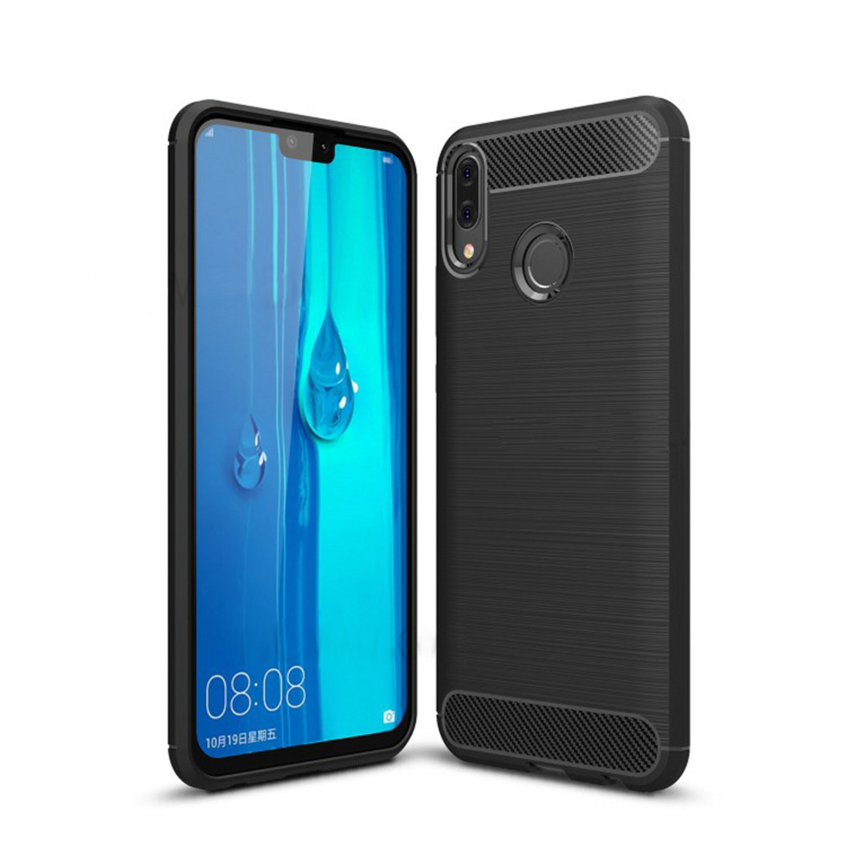 Colorfone Hoesje Armour 1 Huawei P Smart 2019 Zwart