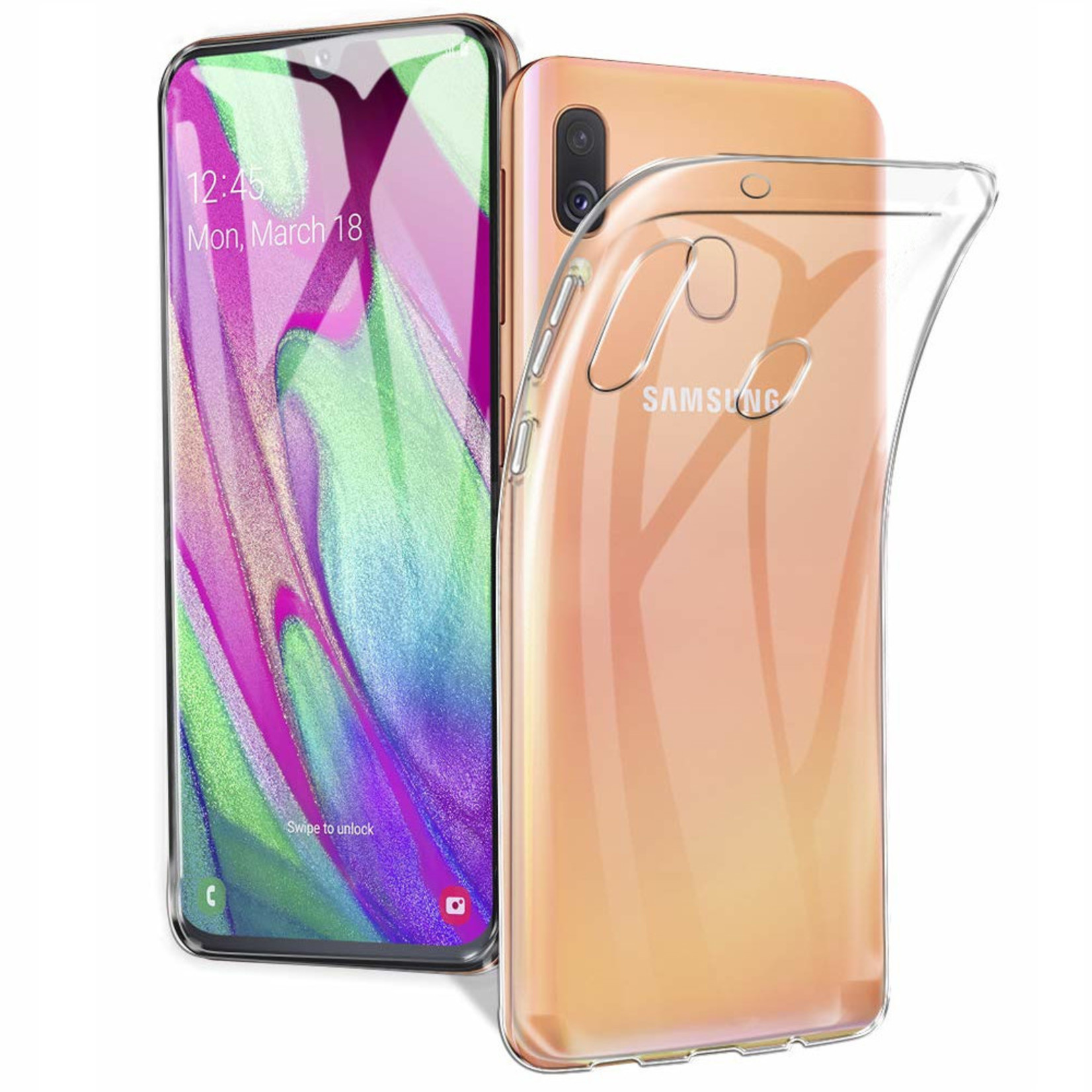 Colorfone Hoesje Coolskin3T voor Samsung A40 Transparant Wit