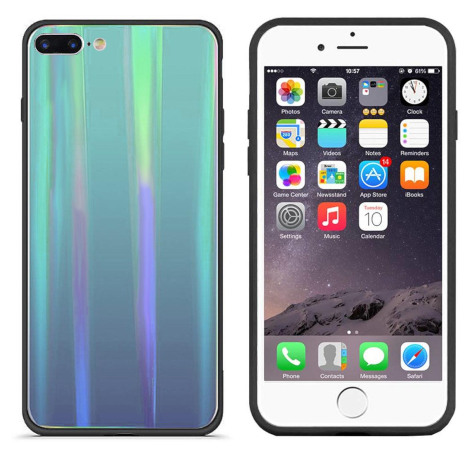 Colorfone BackCover Aurora Glass voor Apple iPhone 8/7 Blauw