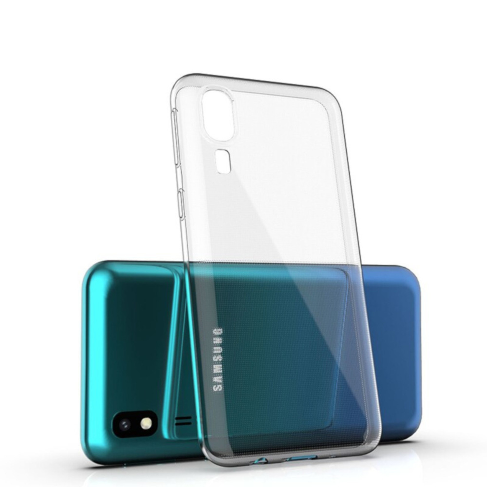 Colorfone Hoesje Coolskin3T voor Samsung A2 Core Transparant Wit
