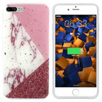 Colorfone Marble Glitter iPhone 8/7 Wit