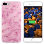 Colorfone Marble Glitter iPhone 8 Plus/7 Plus Roze