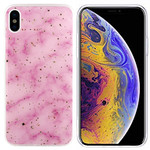 Colorfone Marble Glitter iPhone Xs Max Roze