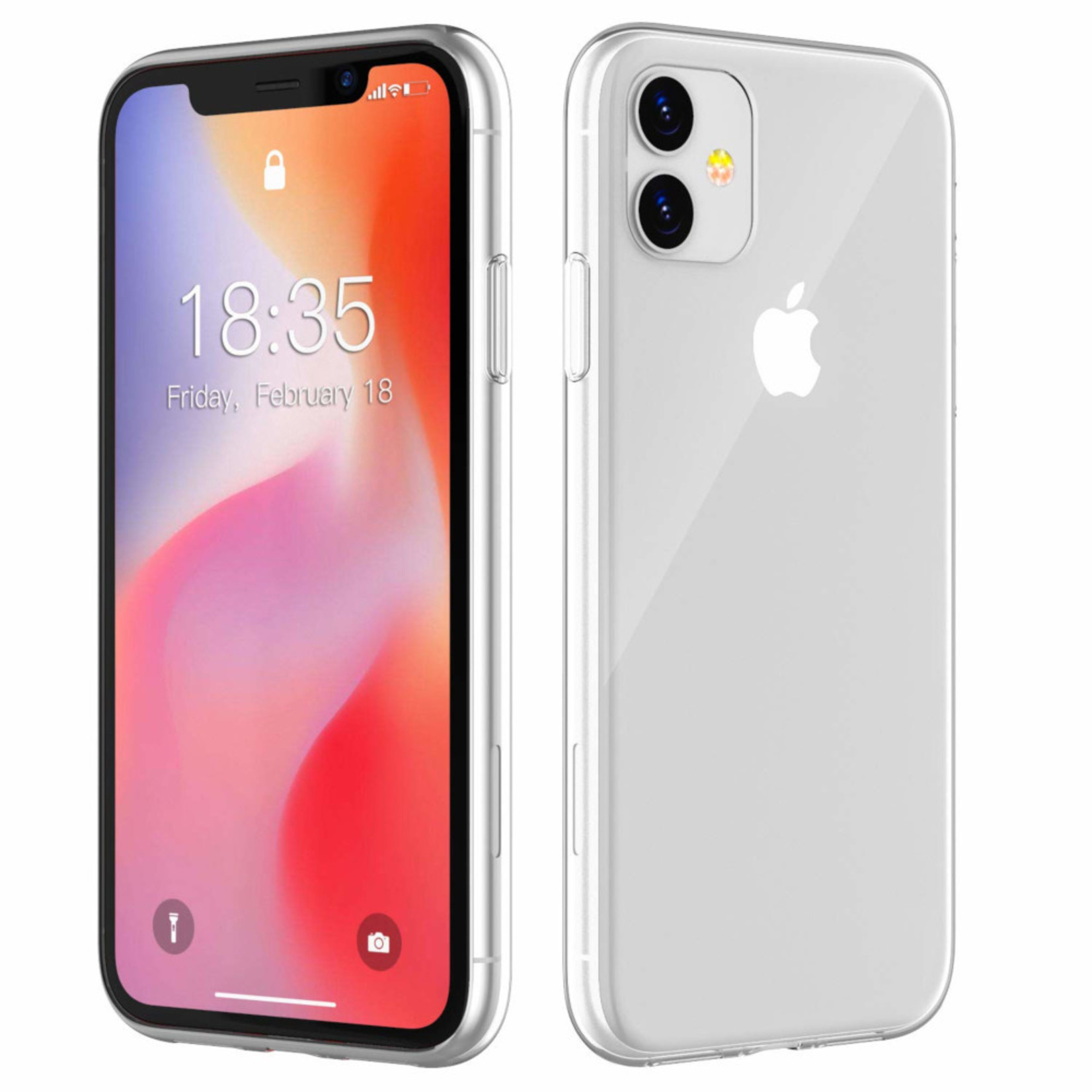 Colorfone Hoesje CoolSkin3T voor Apple iPhone 11 (6.1) Tr. Wit