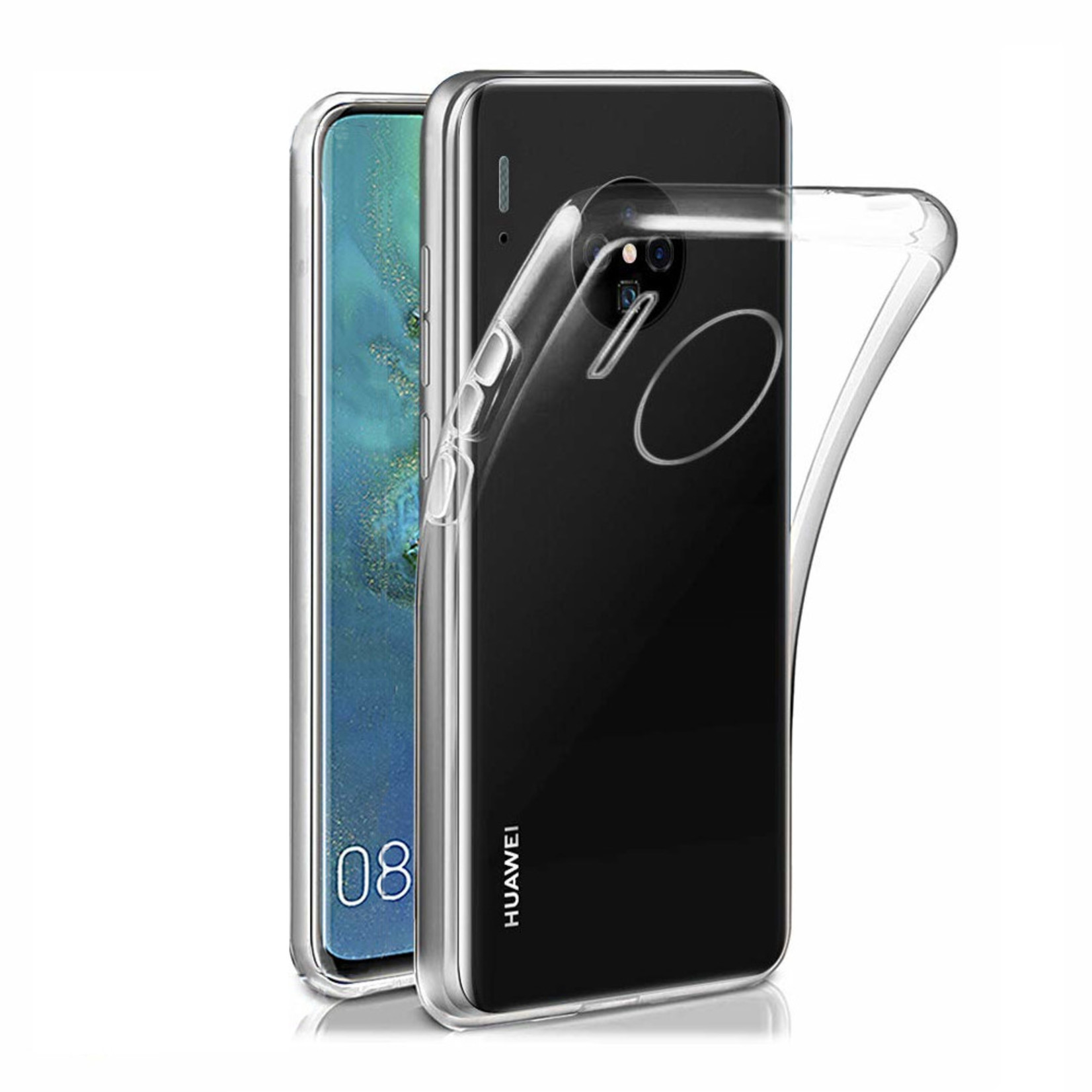 Colorfone Hoesje CoolSkin3T voor Huawei Mate 30 Pro Transparant Wit