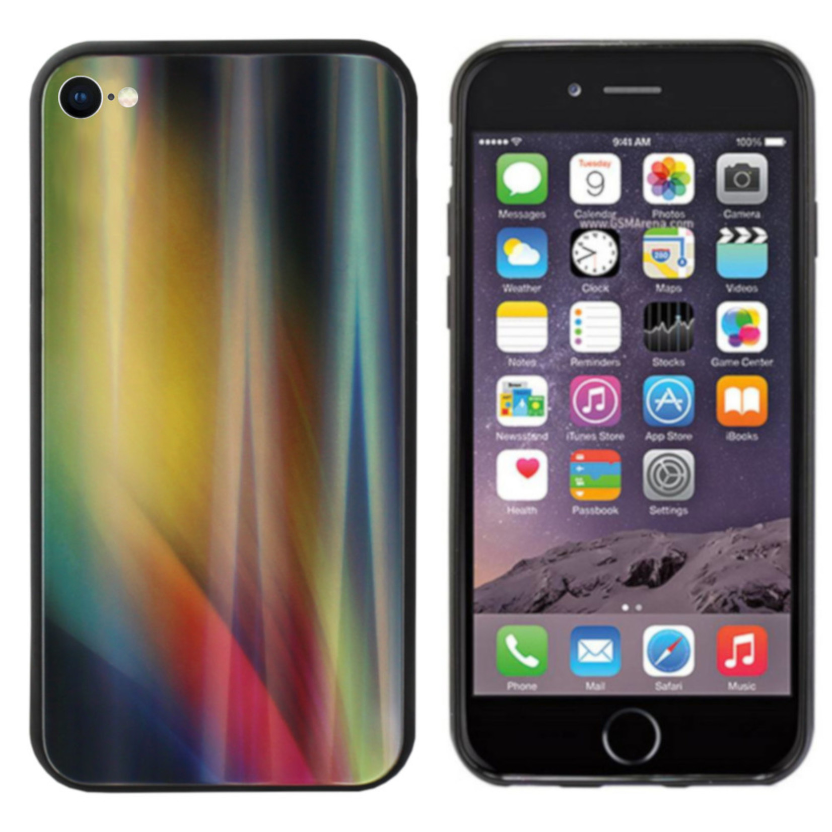 Colorfone BackCover Aurora Glass voor Apple iPhone 8/7 Geel