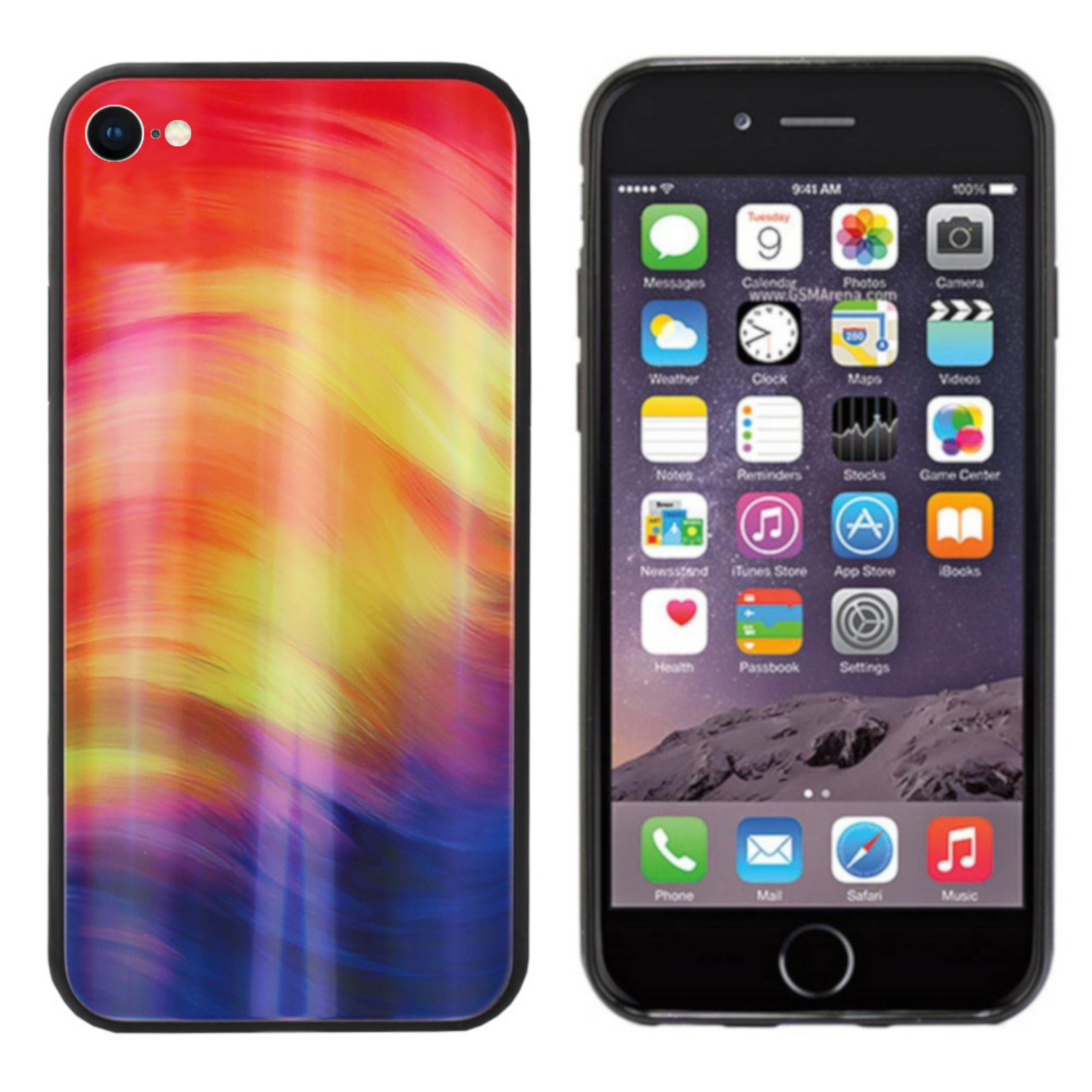 Colorfone BackCover Aurora Glass voor Apple iPhone 8/7 Paars