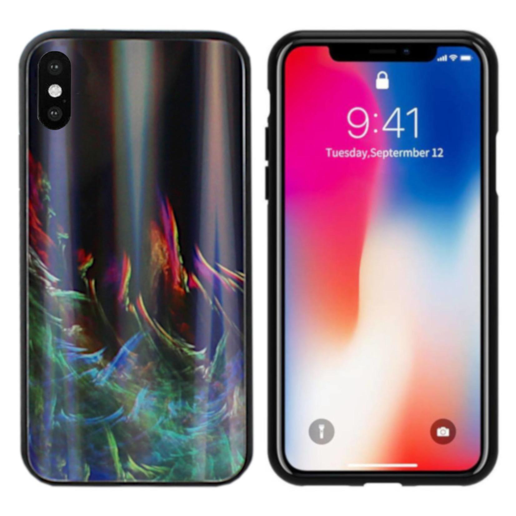 Colorfone BackCover Aurora Glass voor Apple iPhone X/XS Groen