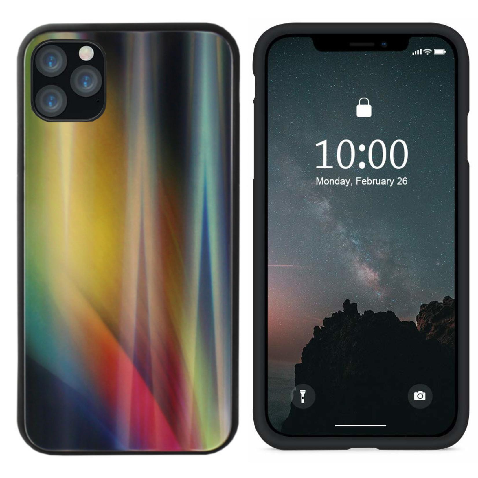 Colorfone BackCover Aurora Glass voor Apple iPhone 11 Pro (5.8) Geel