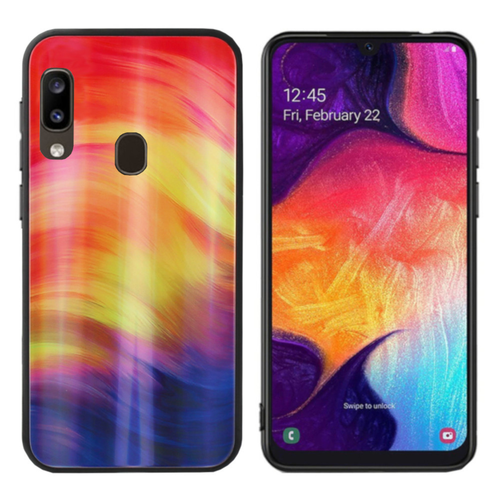 Colorfone BackCover Aurora Glass voor Samsung A40 Paars