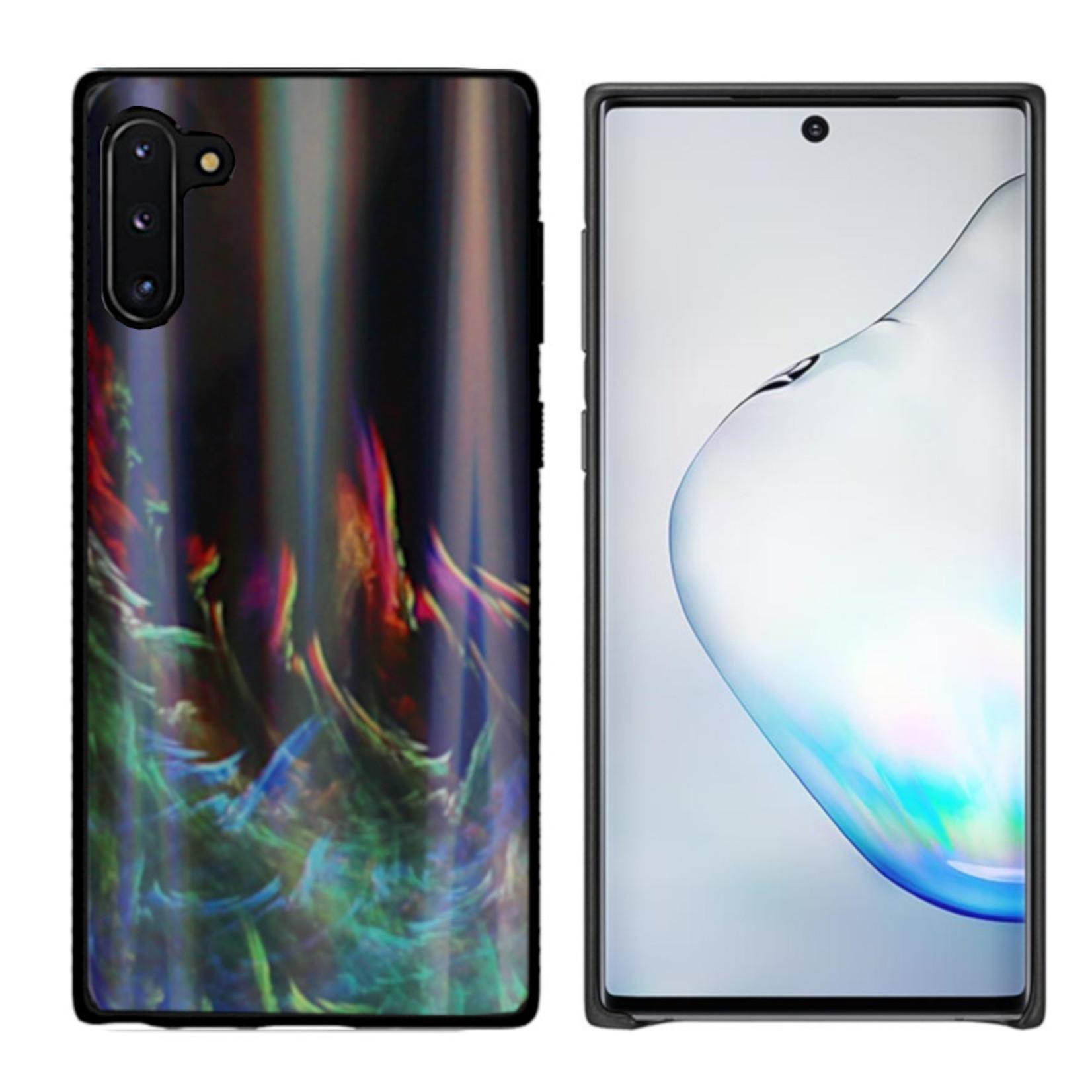 Colorfone BackCover Aurora Glass voor Samsung Note 10 Groen